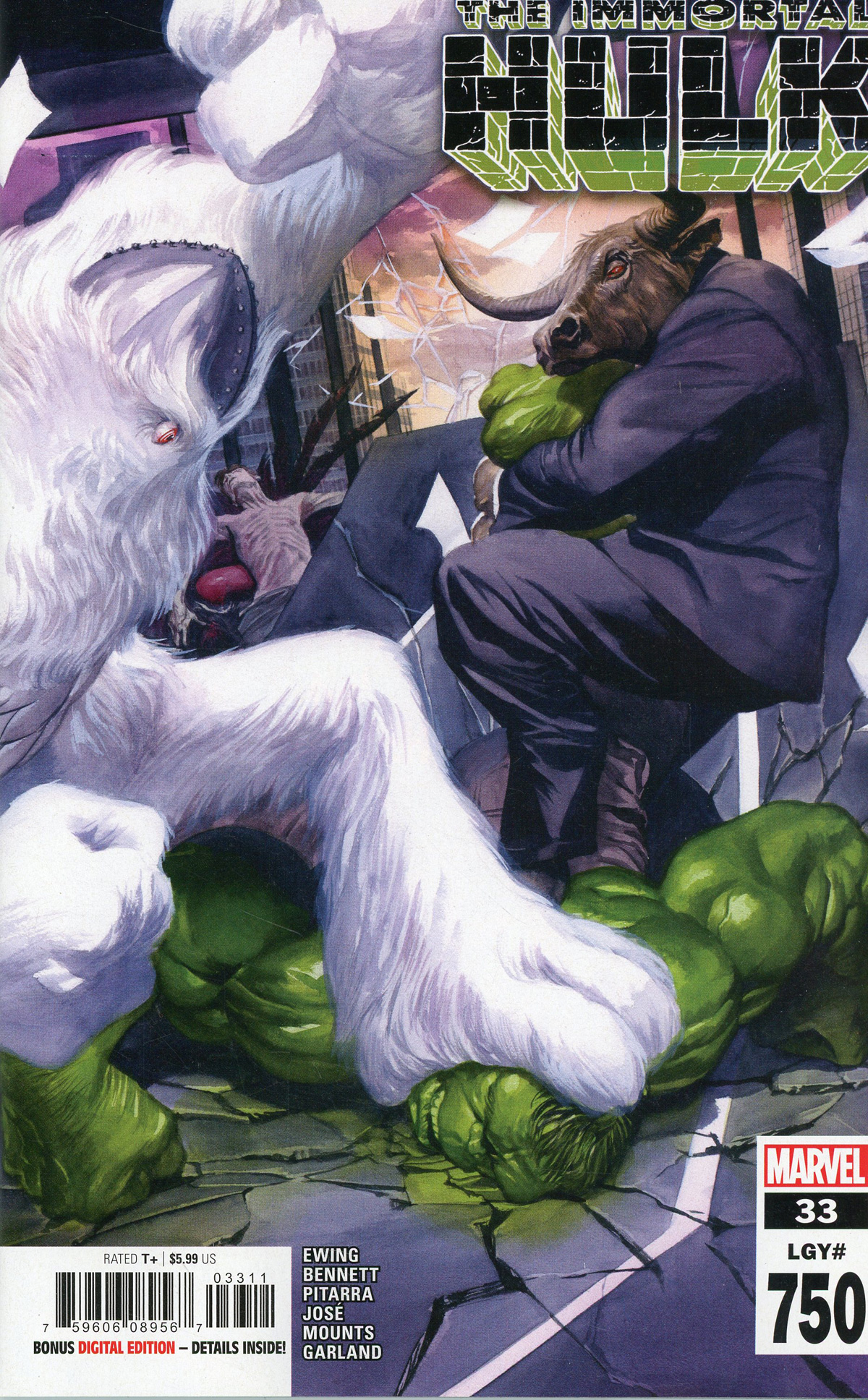 Immortal Hulk #33 Cover A Regular Alex Ross Cover (#750)