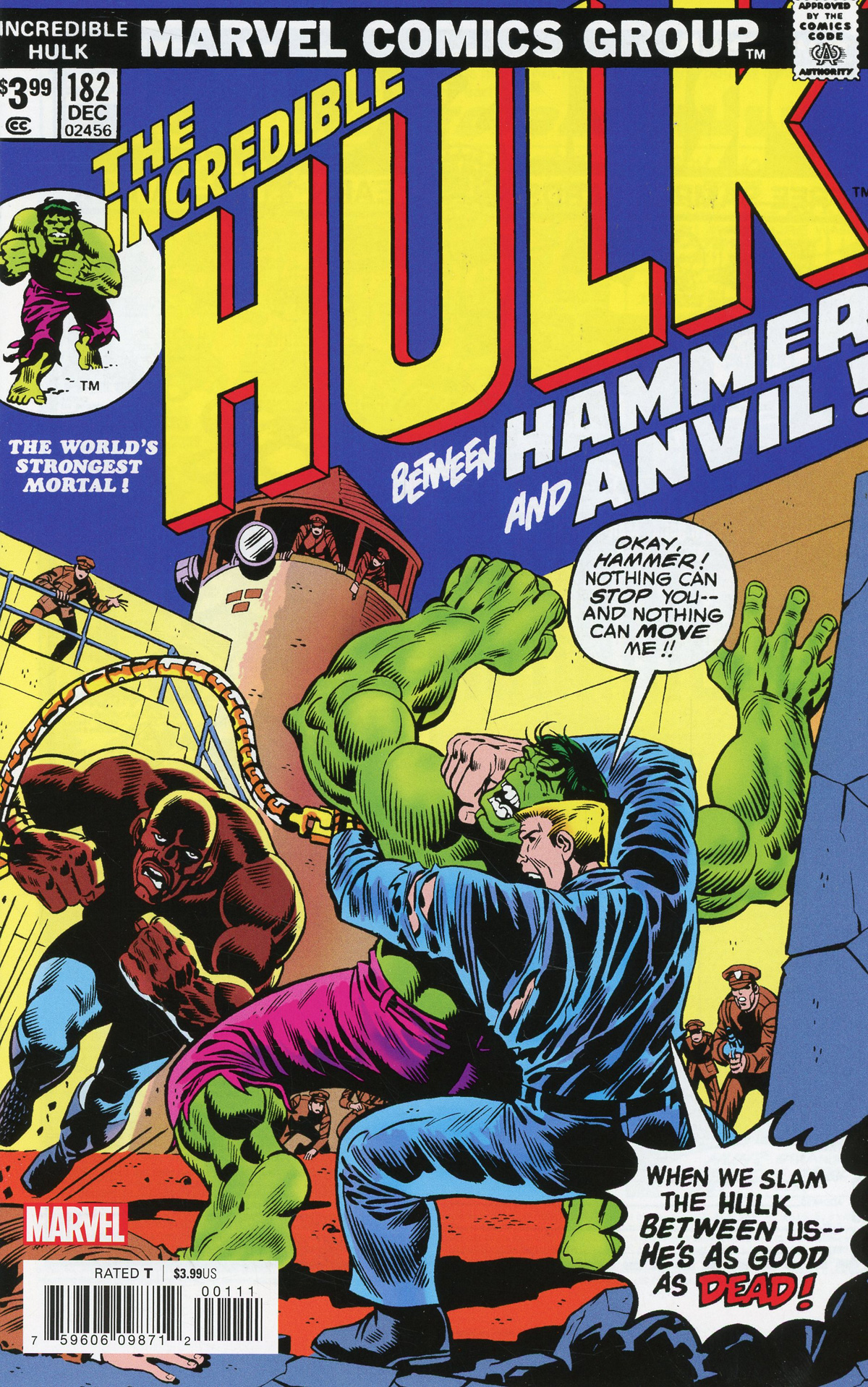 Incredible Hulk #182 Cover B Facsimile Edition