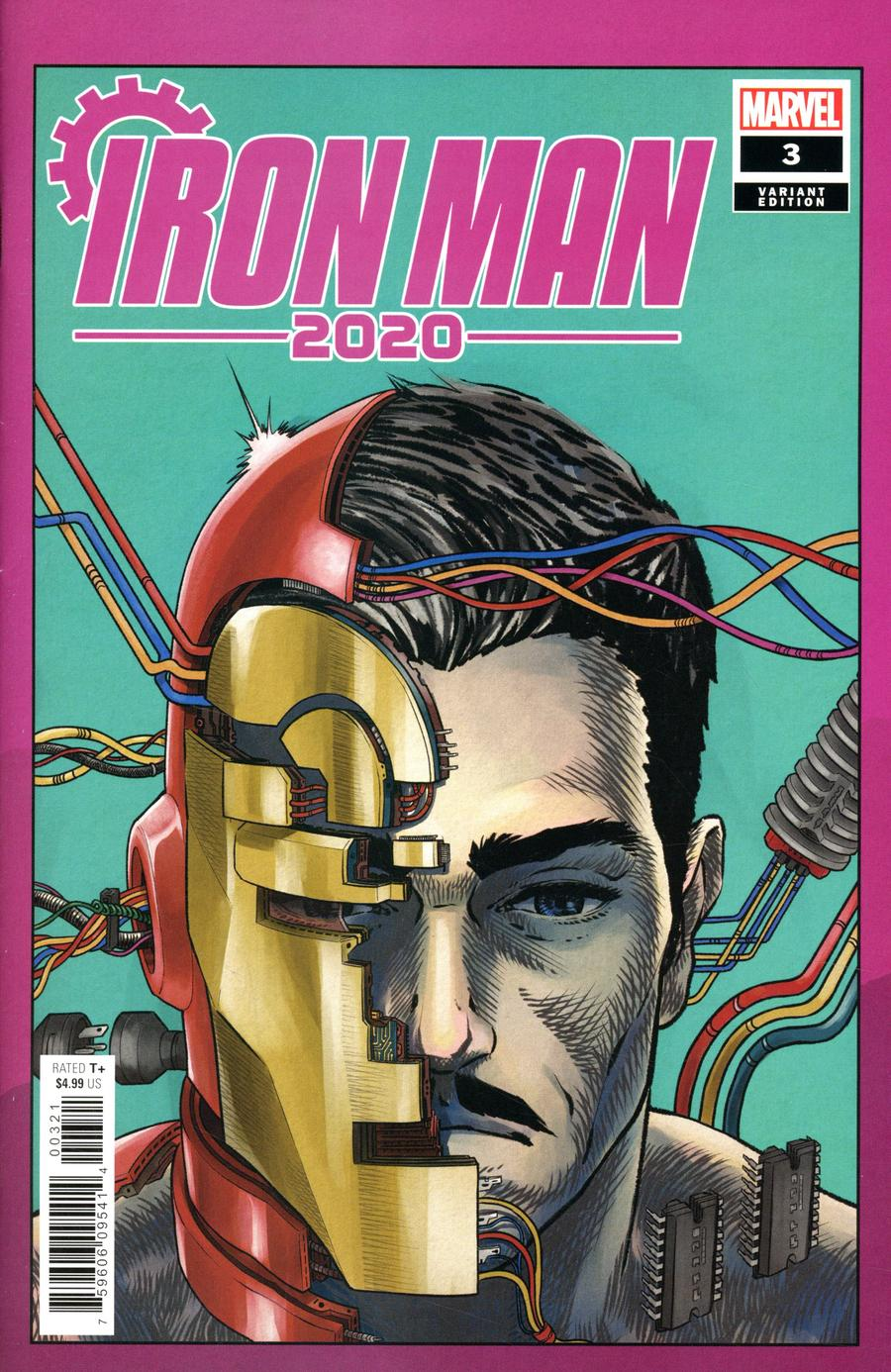 Iron Man 2020 #3 Cover B Variant Superlog Heads Cover