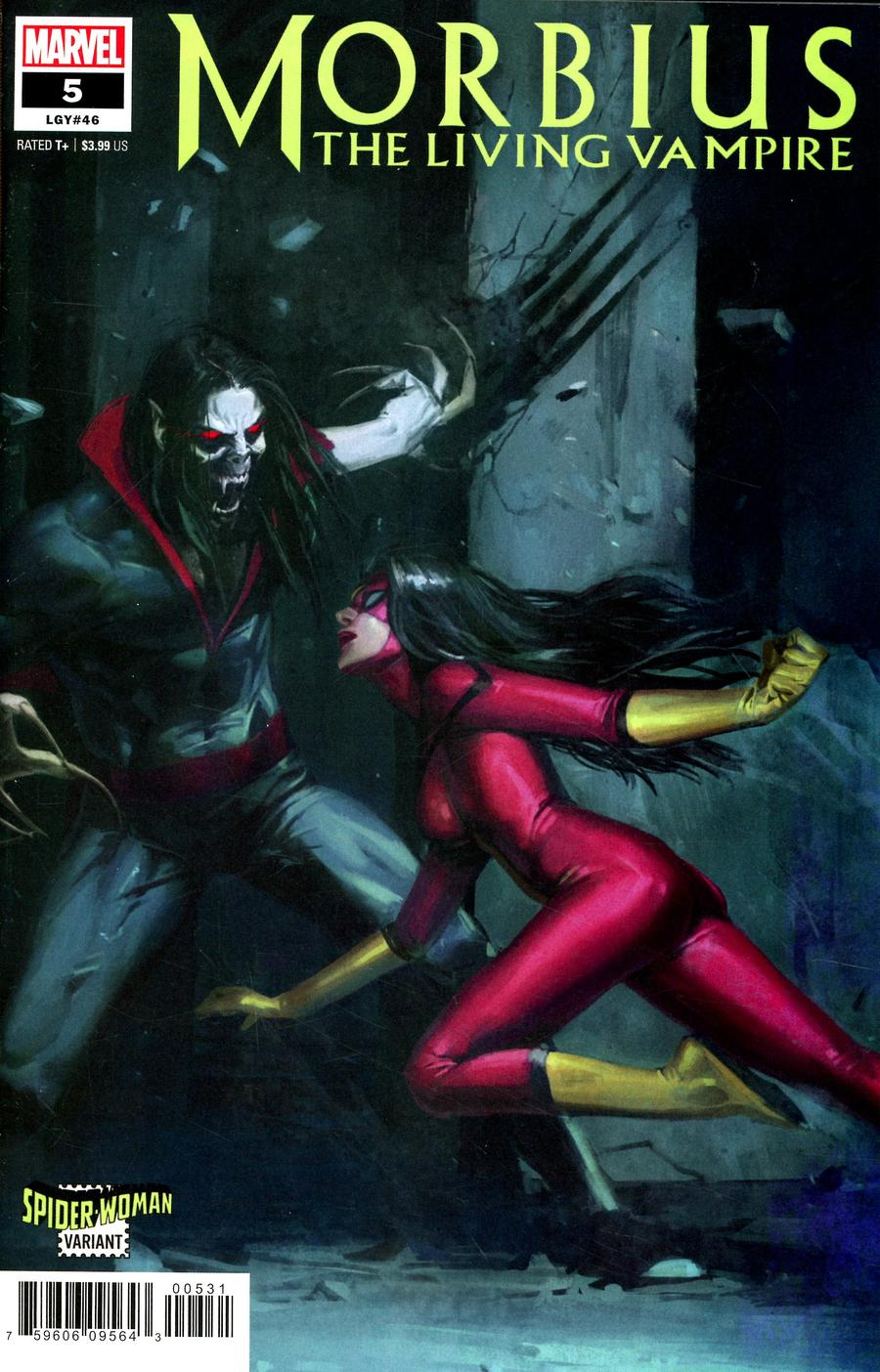 Morbius #5 Cover B Variant Pyeong Jun Park Spider-Woman Cover