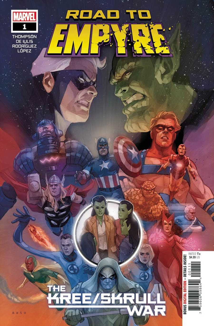 Road To Empyre Kree / Skrull War #1 Cover A Regular Phil Noto Cover