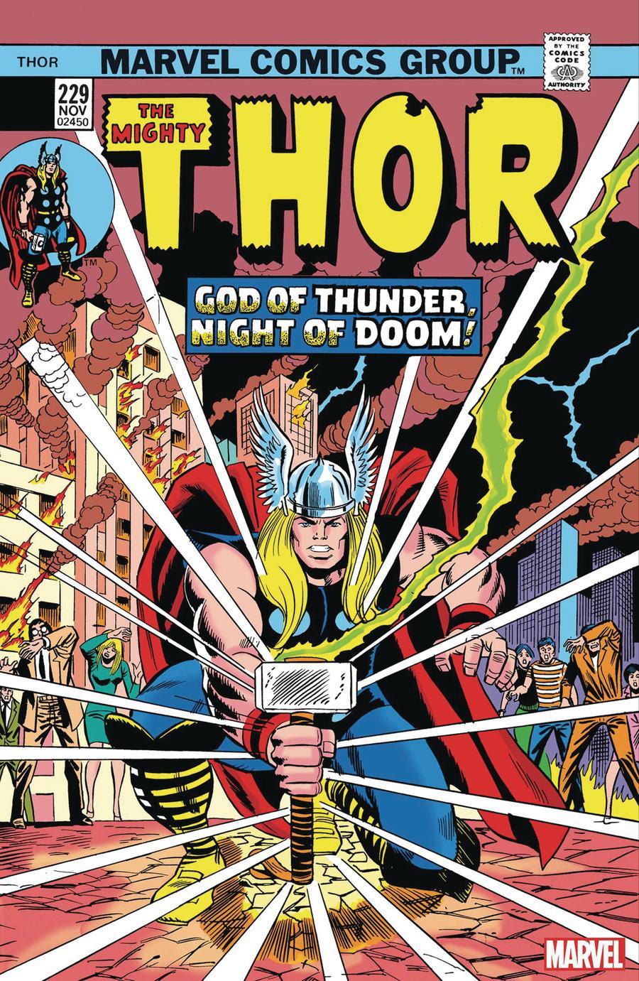 Thor Vol 1 #229 Cover B Facsimile Edition