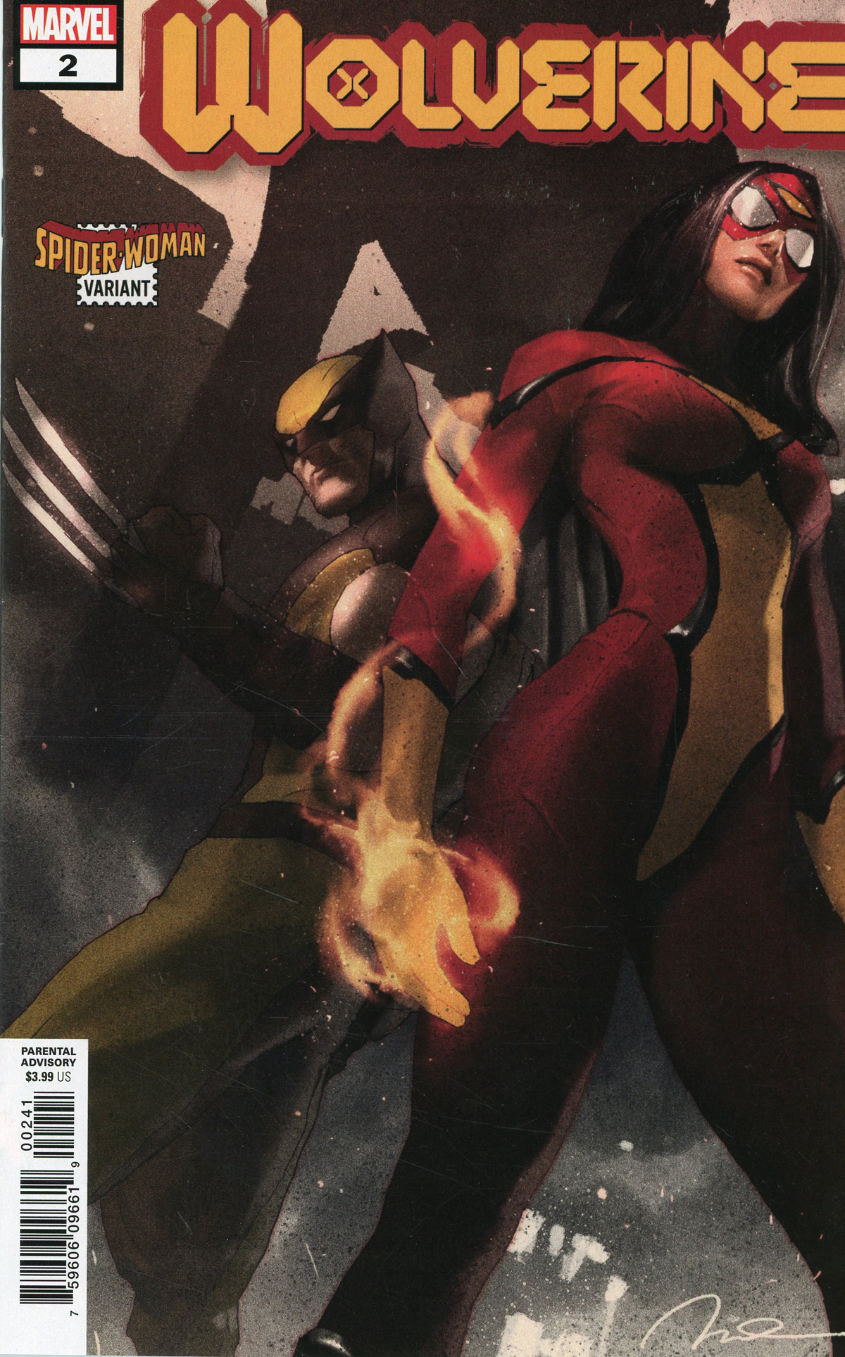 Wolverine Vol 7 #2 Cover B Variant Gerald Parel Spider-Woman Cover (Dawn Of X Tie-In)
