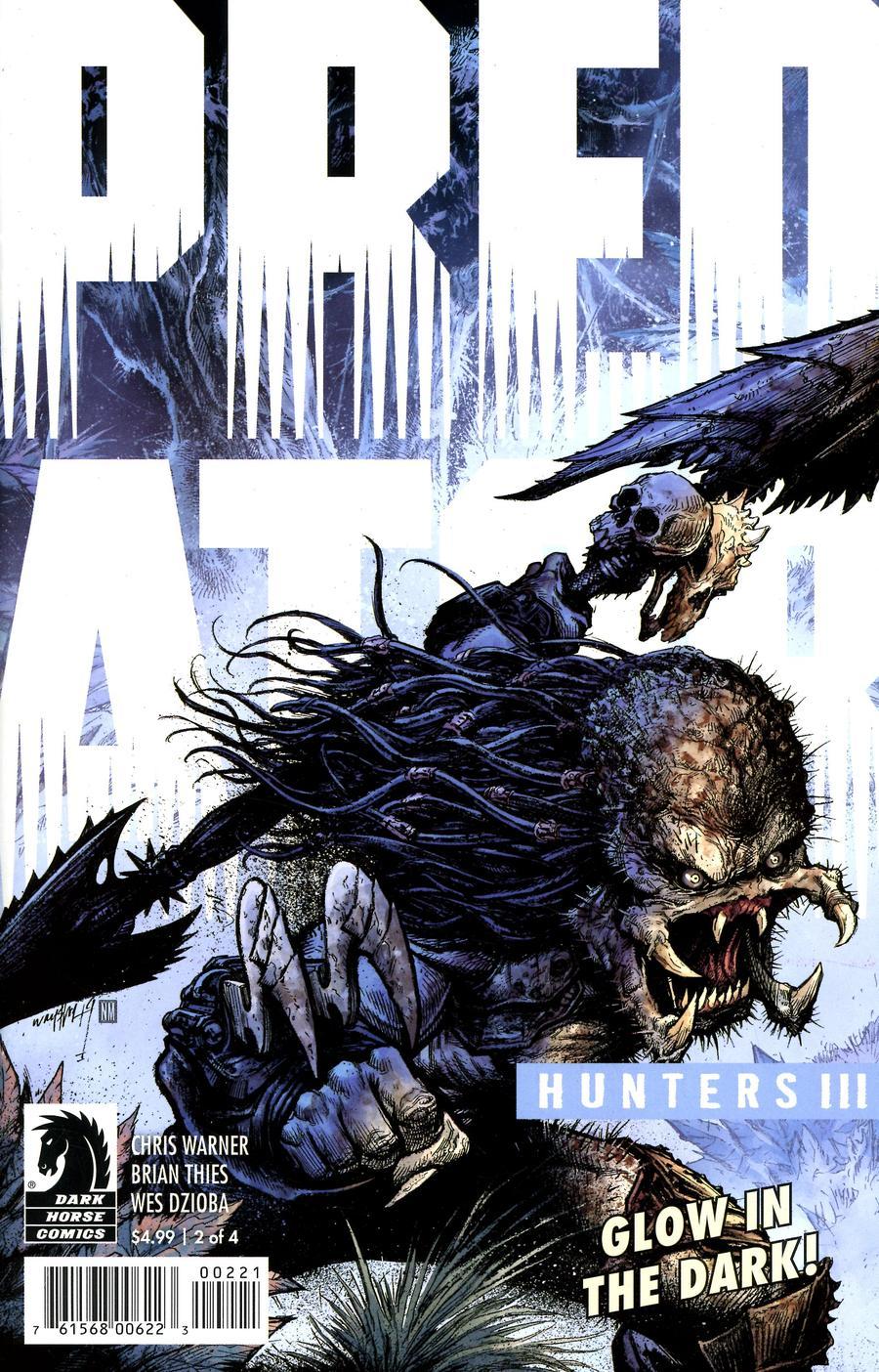 Predator Hunters III #2 Cover B Variant Jonathan Wayshak Glow-In-The-Dark Ink Cover