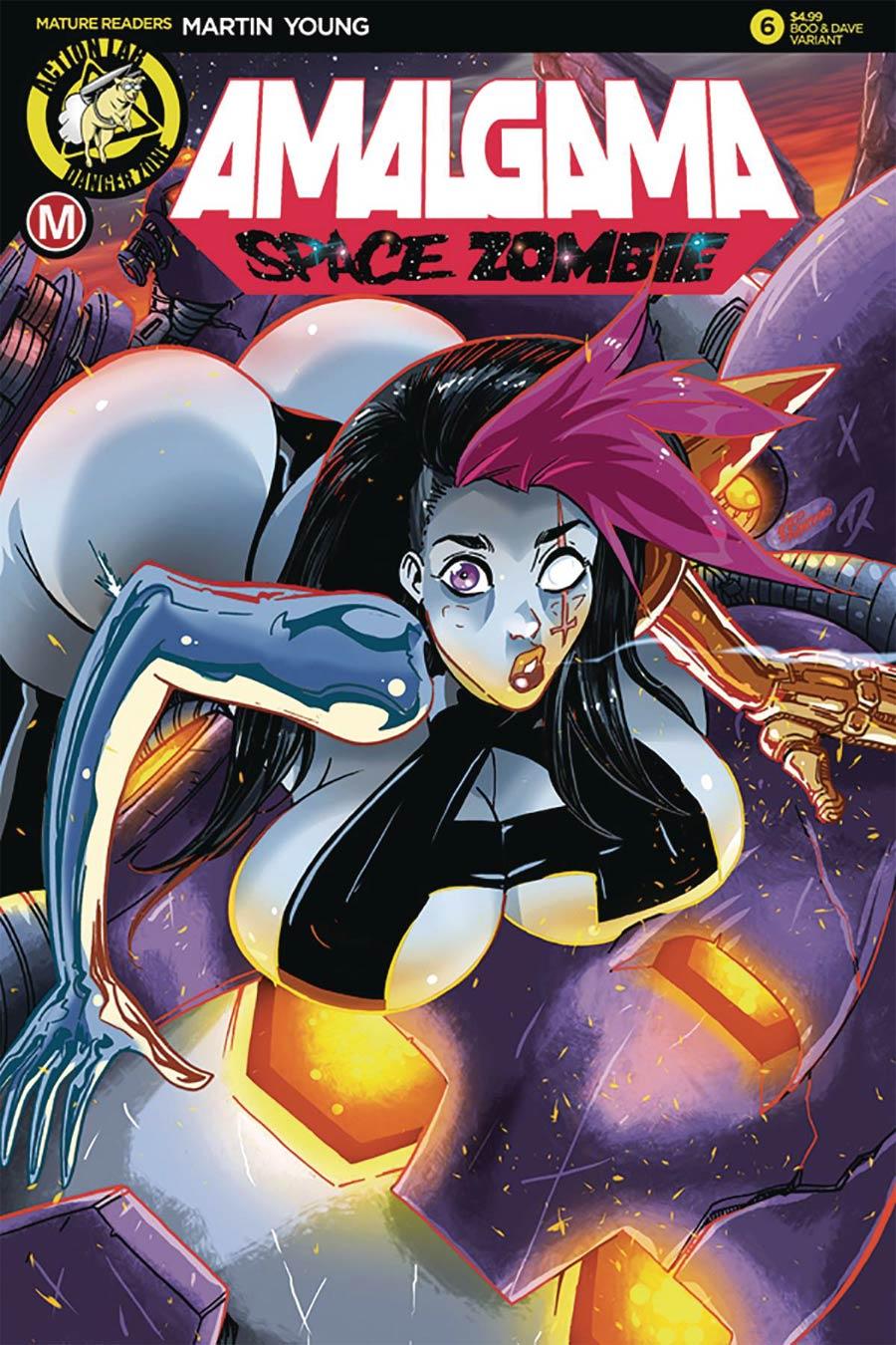 Amalgama Space Zombie #6 Cover C Variant Rudetoons Cover