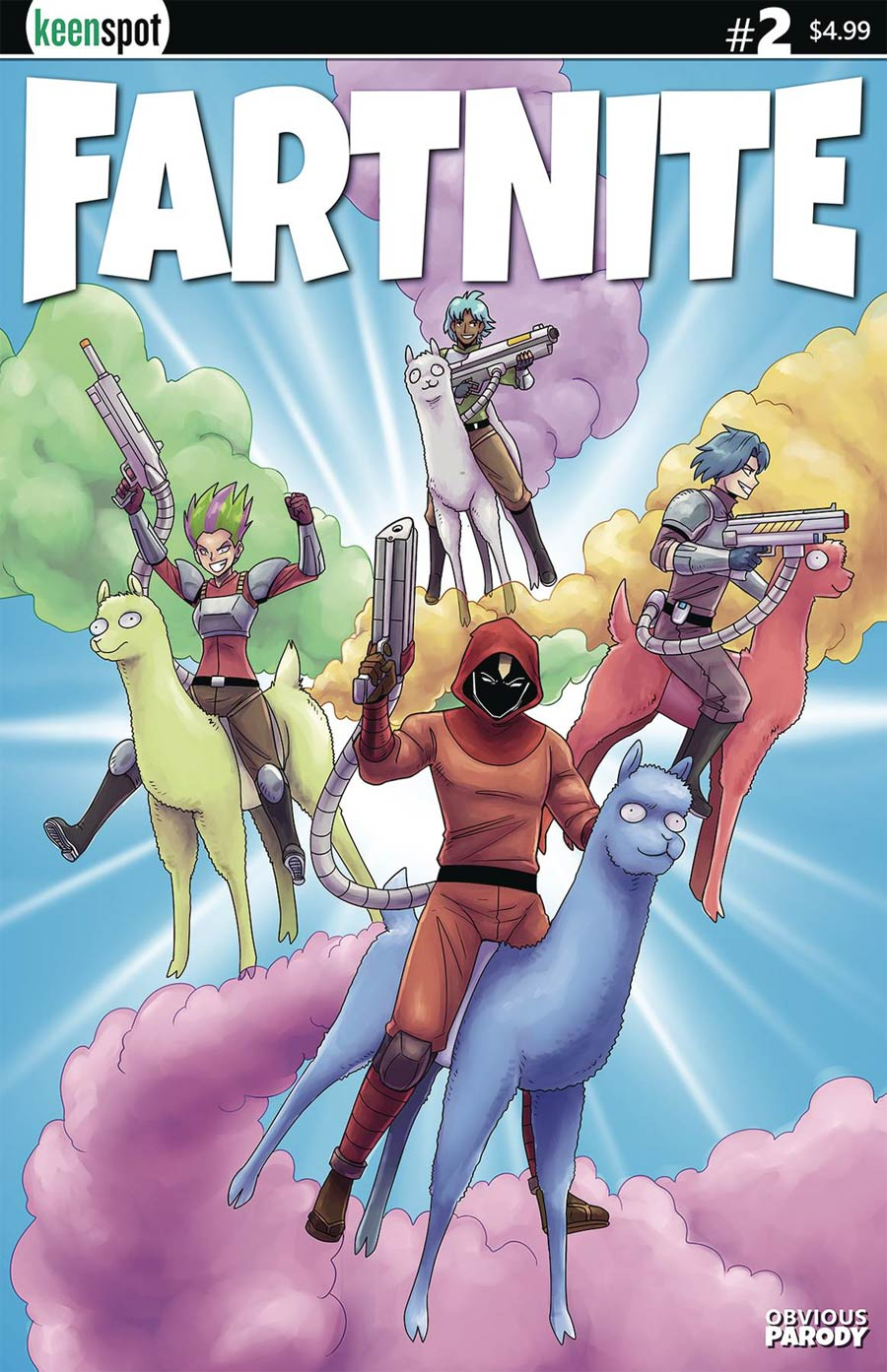 Fartnite Chapter Poo #1 Cover B Variant Llama Riders In The Sky Cover