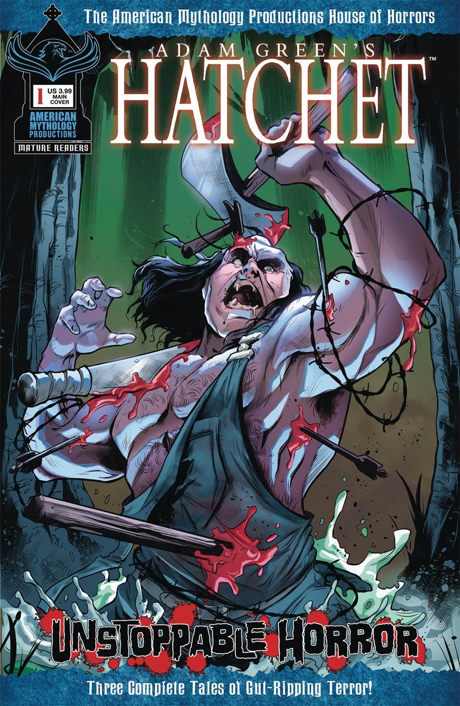 Adam Greens Hatchet Unstoppable Horror #1 Cover A Regular Vincenzo Carratu Cover