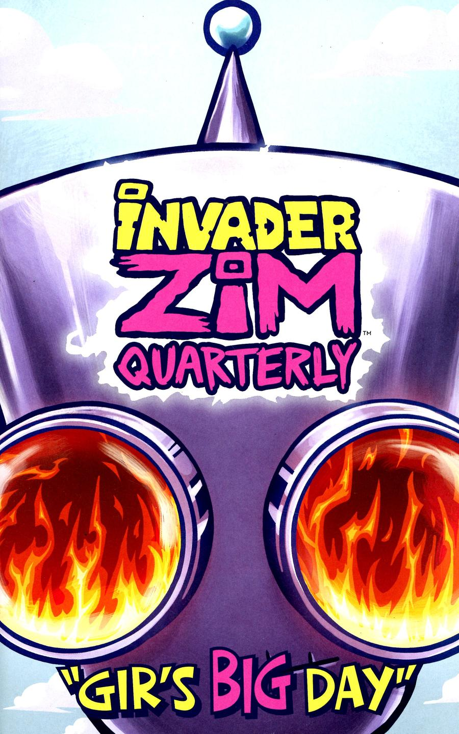 Invader Zim Quarterly #1 Girs Big Day Cover B Variant Fred C Stresing Cover
