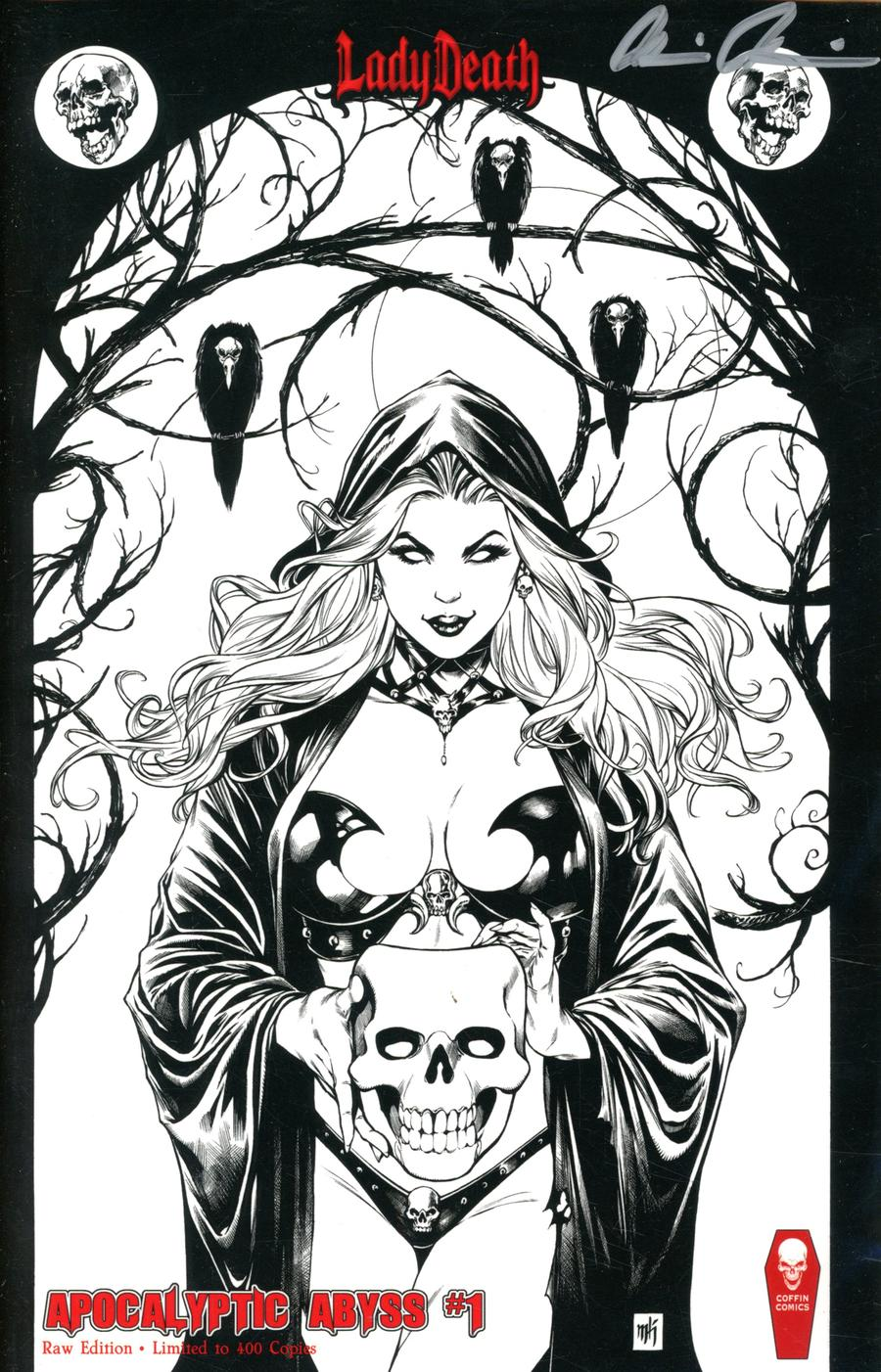 Lady Death Apocalyptic Abyss #1 Cover G Raw Edition