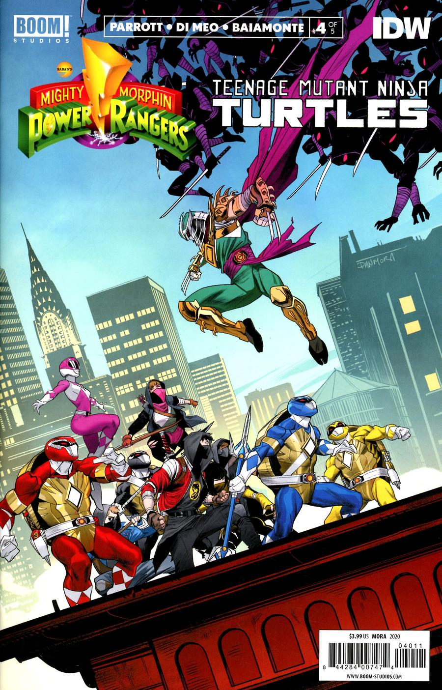 Mighty Morphin Power Rangers Teenage Mutant Ninja Turtles #4 Cover A Regular Dan Mora Cover