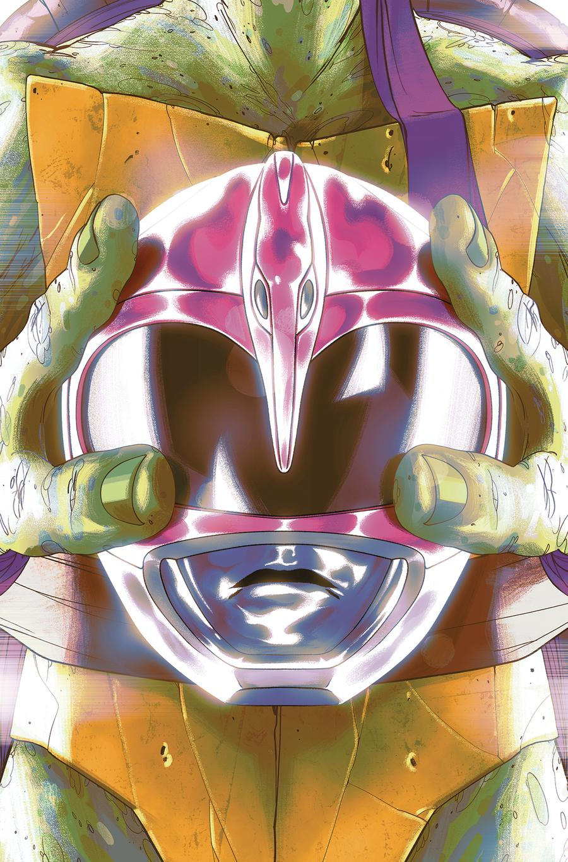Mighty Morphin Power Rangers Teenage Mutant Ninja Turtles #4 Cover D Variant Goni Montes Donatello Cover