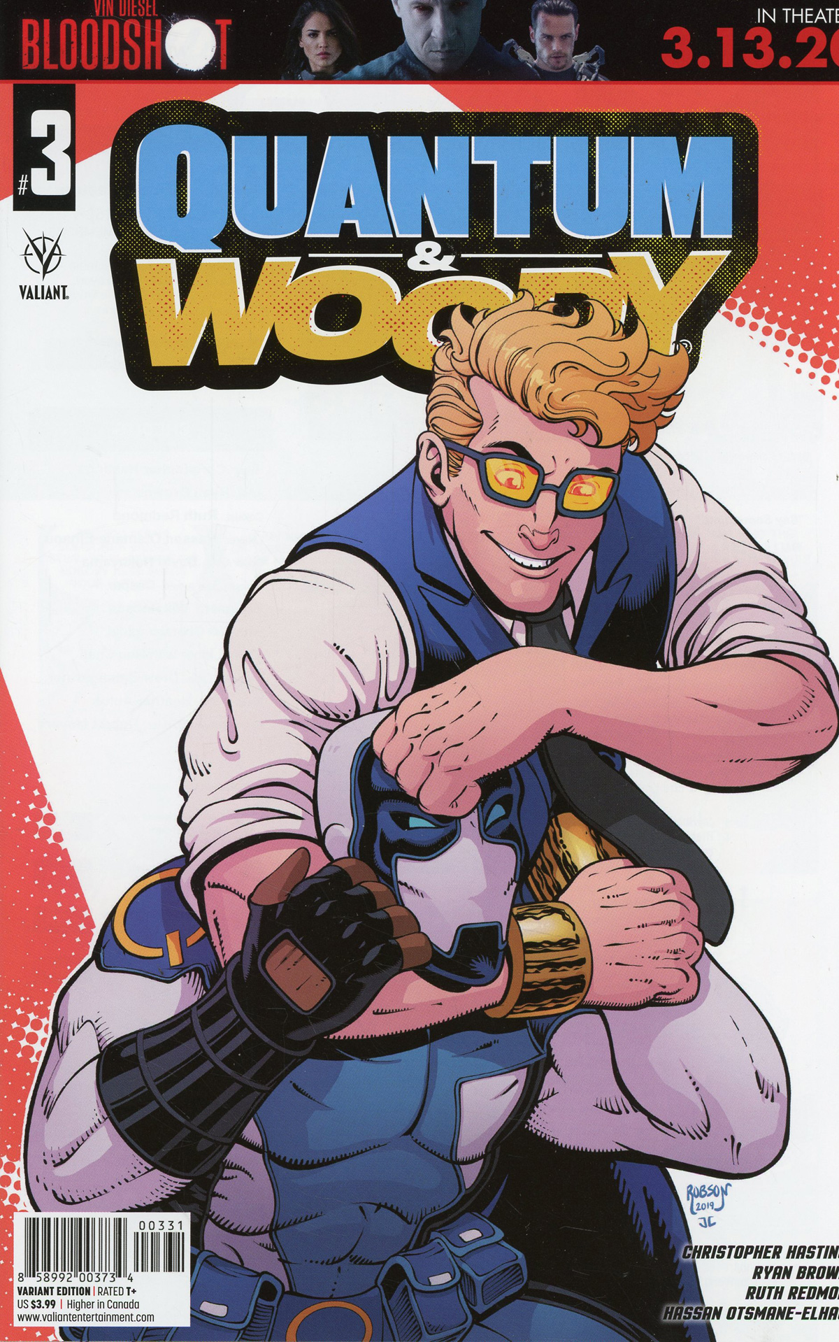 Quantum & Woody Vol 5 #3 Cover C Variant Will Robson Cover