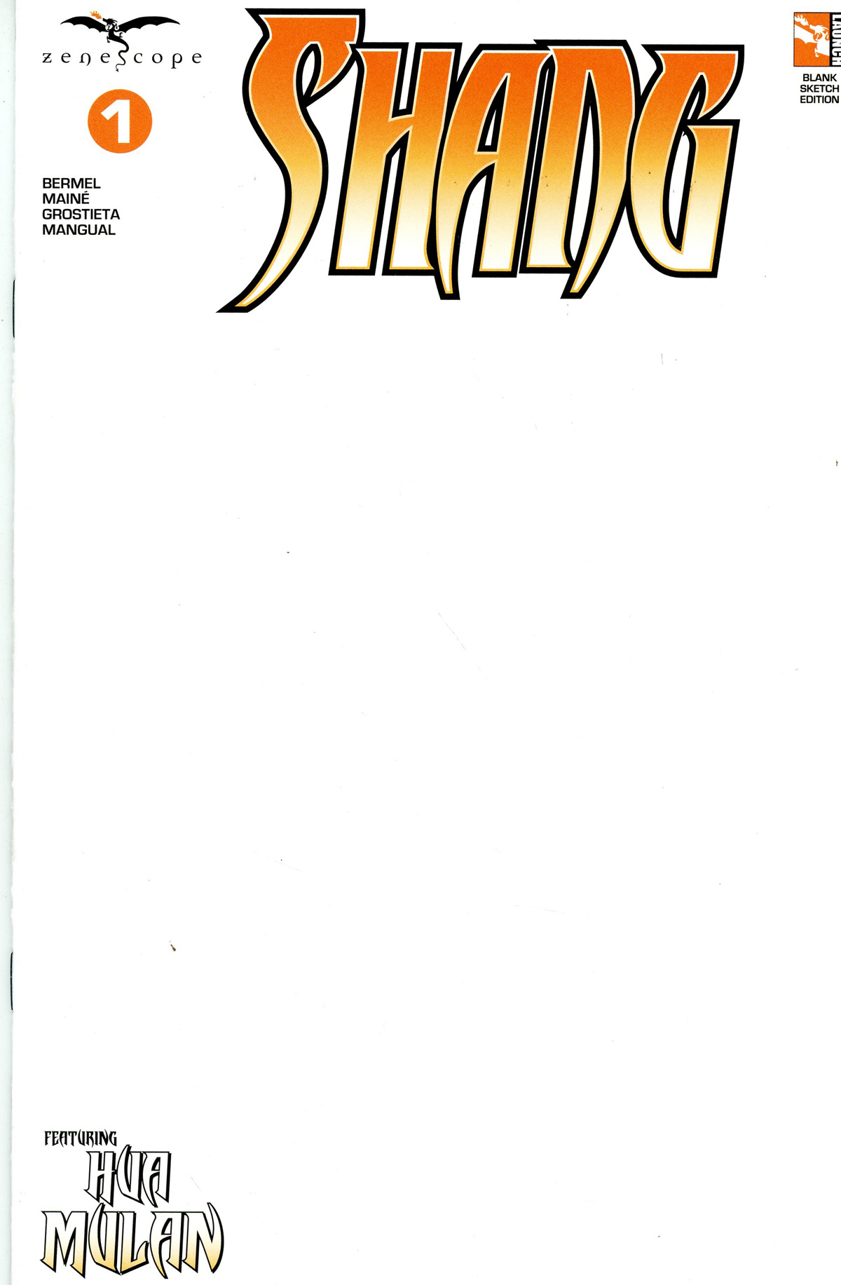 Grimm Fairy Tales Presents Shang #1 Cover E Blank