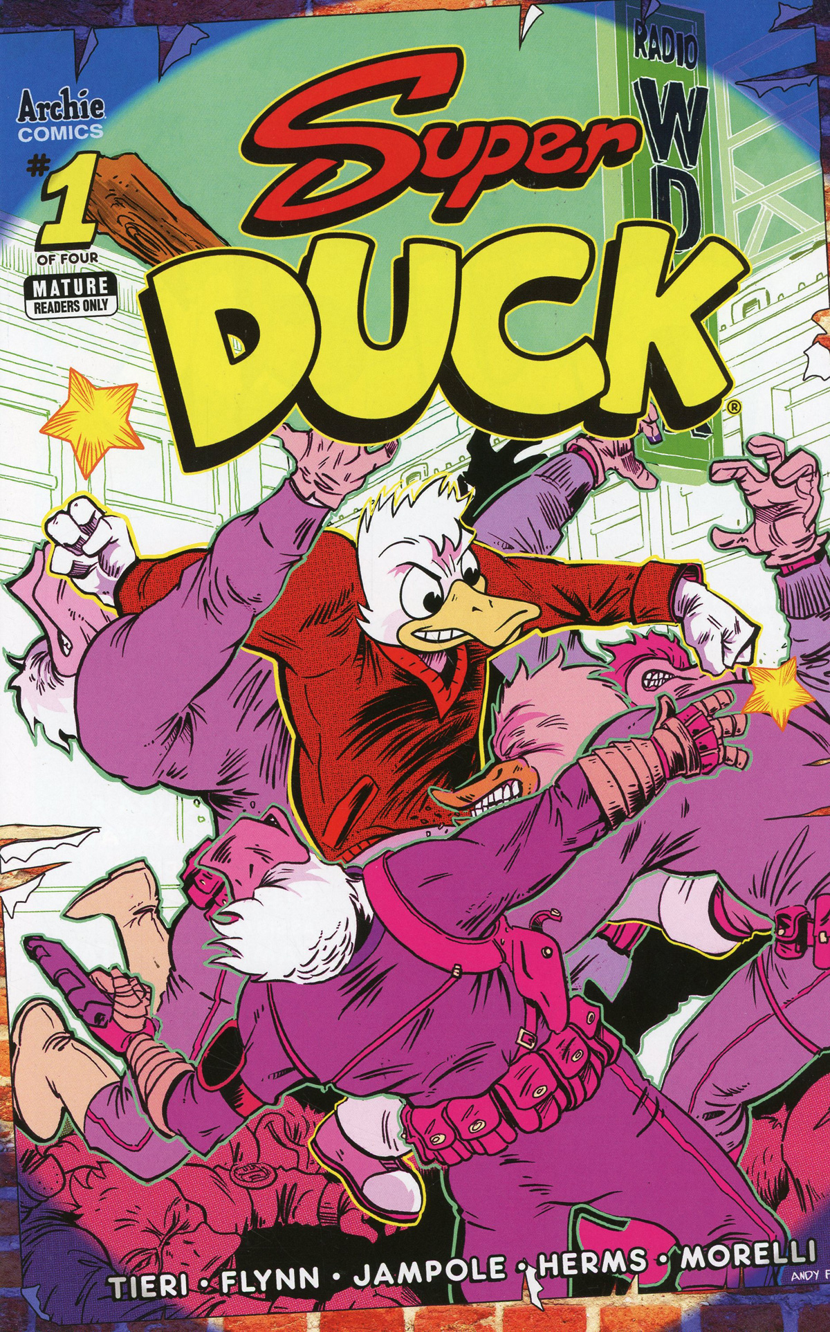 Super Duck #1 Cover C Variant Andy Fish Cover