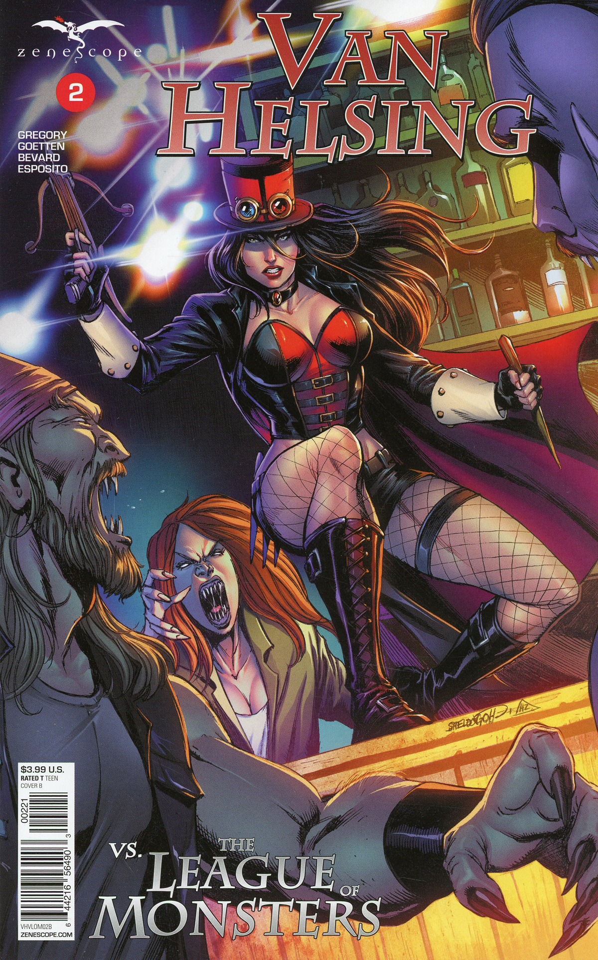 Grimm Fairy Tales Presents Van Helsing vs The League Of Monsters #2 Cover B Sheldon Goh