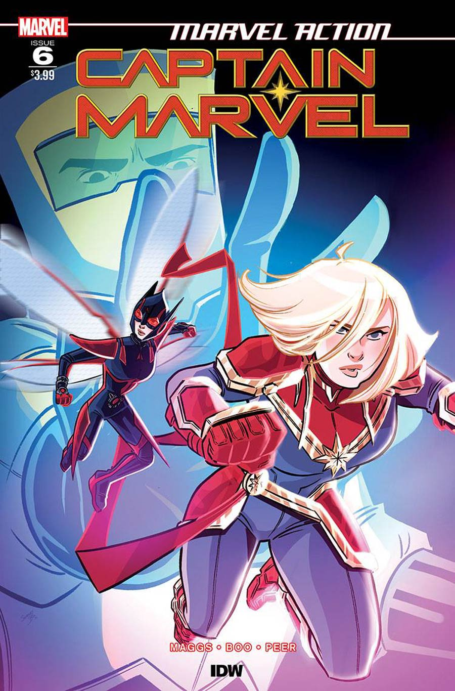 Marvel Action Captain Marvel #6 Cover A Regular Sweeney Boo Cover