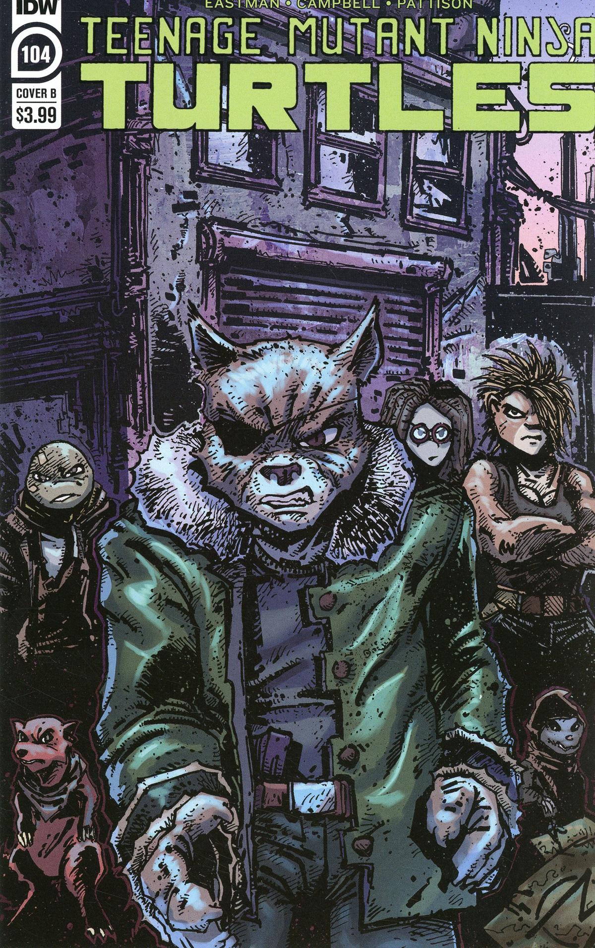 Teenage Mutant Ninja Turtles Vol 5 #104 Cover B Variant Kevin Eastman Cover