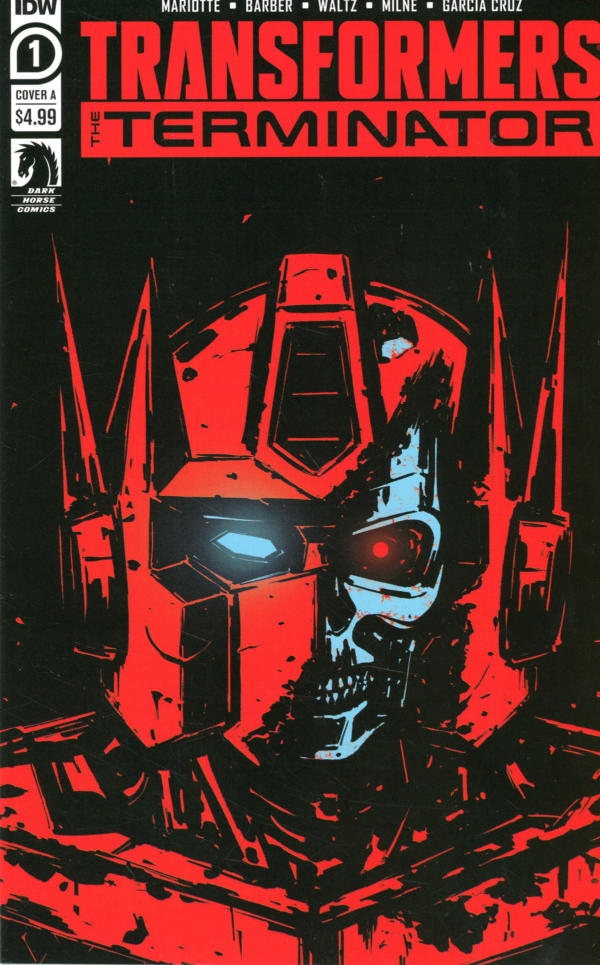 Transformers vs Terminator #1 Cover A Regular Gavin Fullerton Cover