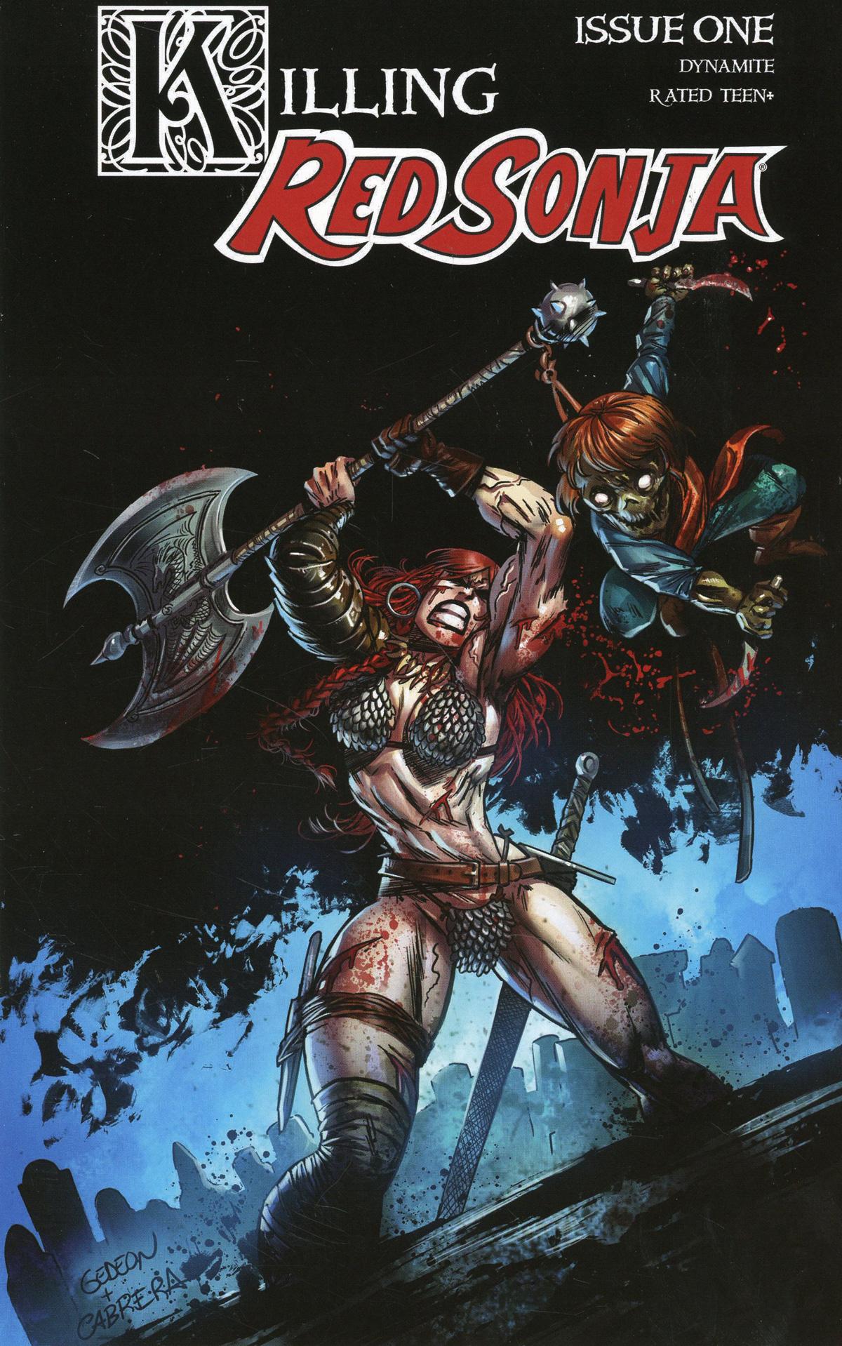 Killing Red Sonja #1 Cover B Variant Juan Gedeon Zombie Cover