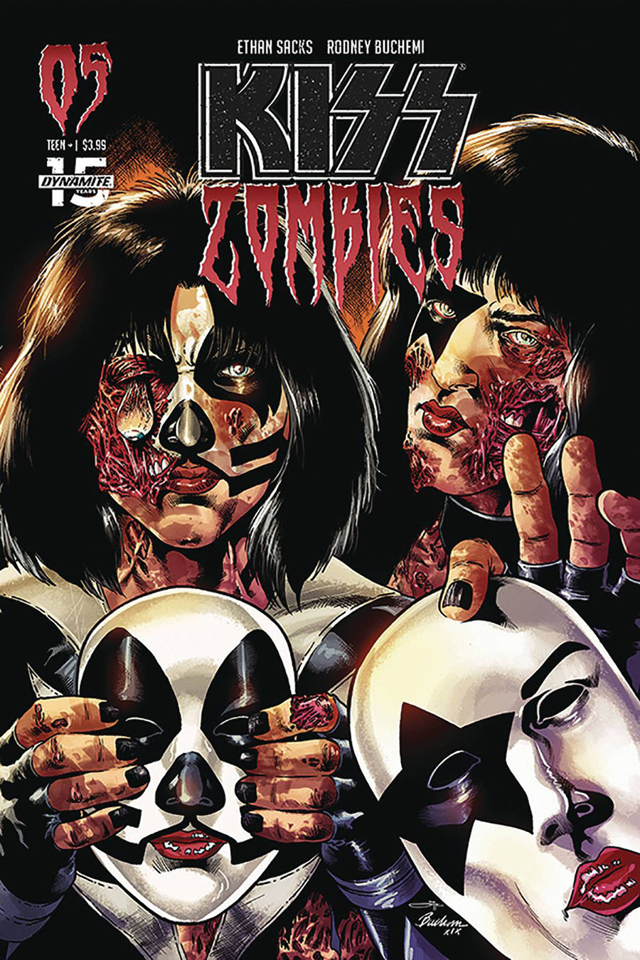 KISS Zombies #5 Cover C Variant Rodney Buchemi Cover