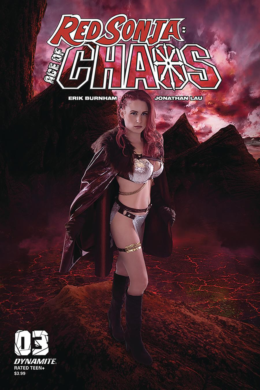 Red Sonja Age Of Chaos #3 Cover E Variant Shannon Kingston Cosplay Photo Cover