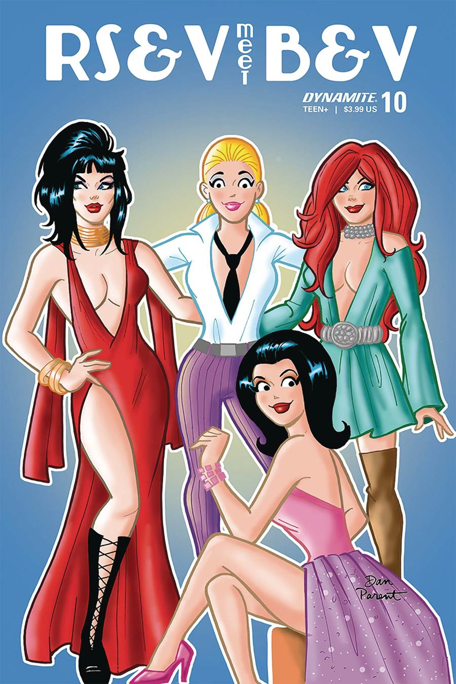 Red Sonja And Vampirella Meet Betty And Veronica #10 Cover D Variant Dan Parent Cover