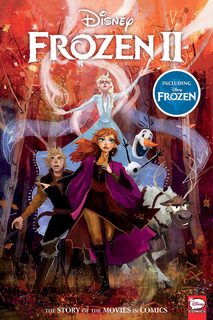 Disney Frozen And Frozen 2 Story Of The Movies In Comics HC
