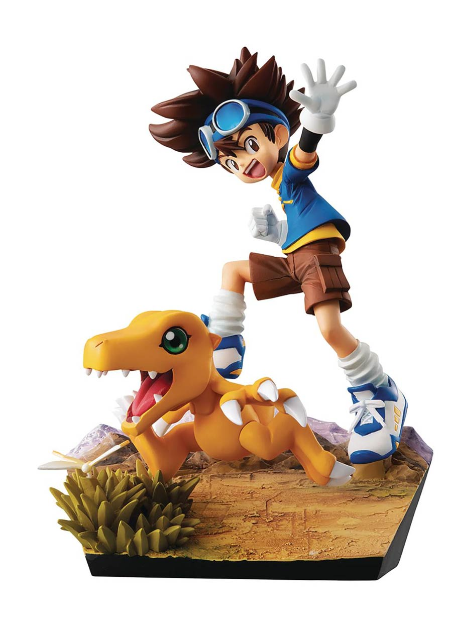Digimon Adventures Tai & Augumon 20th Anniversary G.E.M. Series PVC Statue