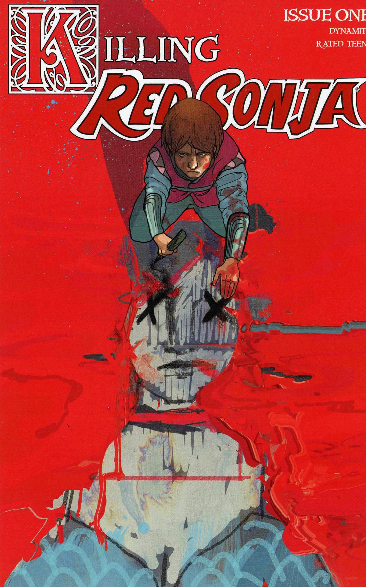 Killing Red Sonja #1 Cover K Incentive Christian Ward Crimson Cover