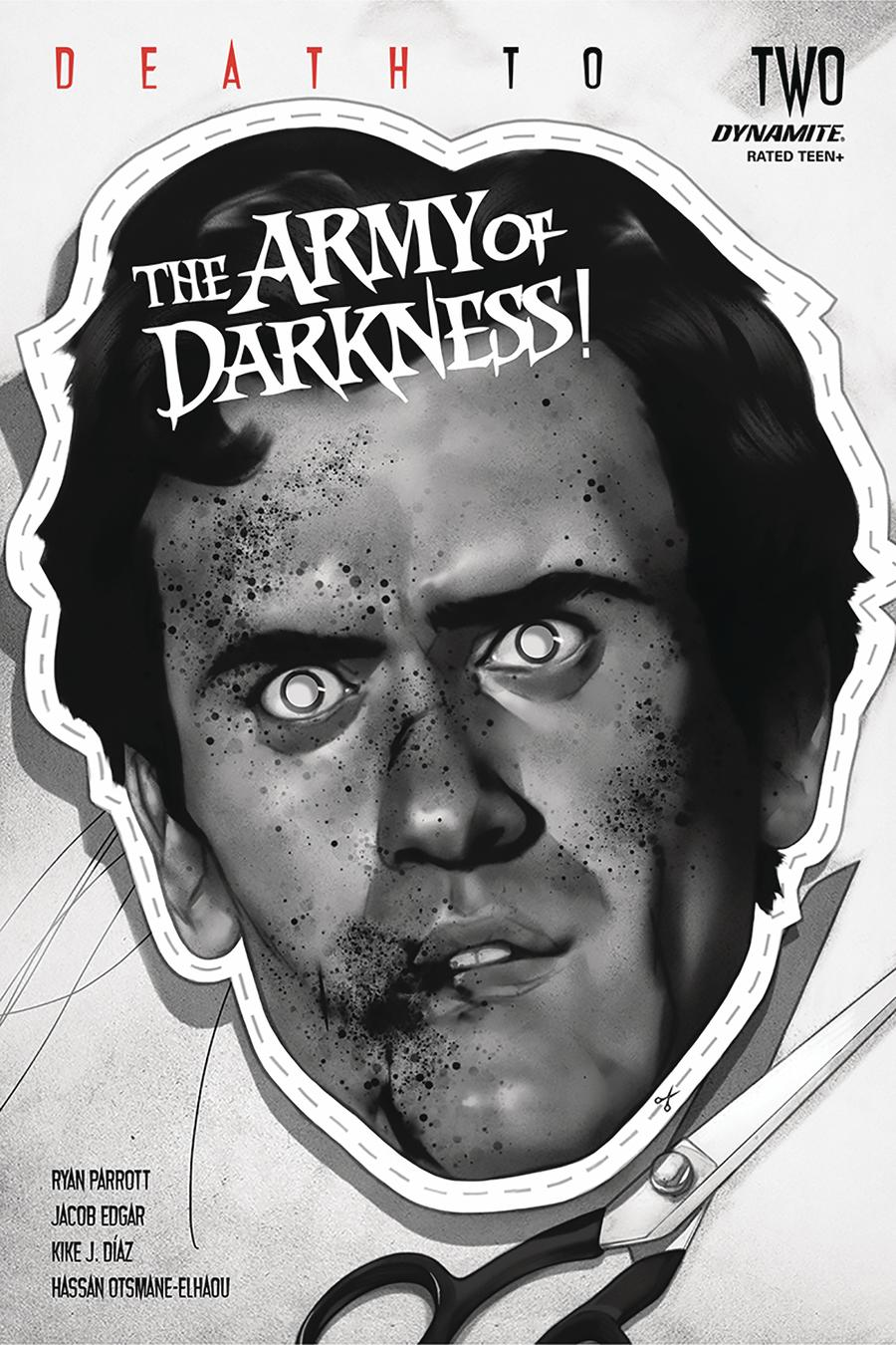 Death To The Army Of Darkness #2 Cover M Incentive Ben Oliver Black & White Cover