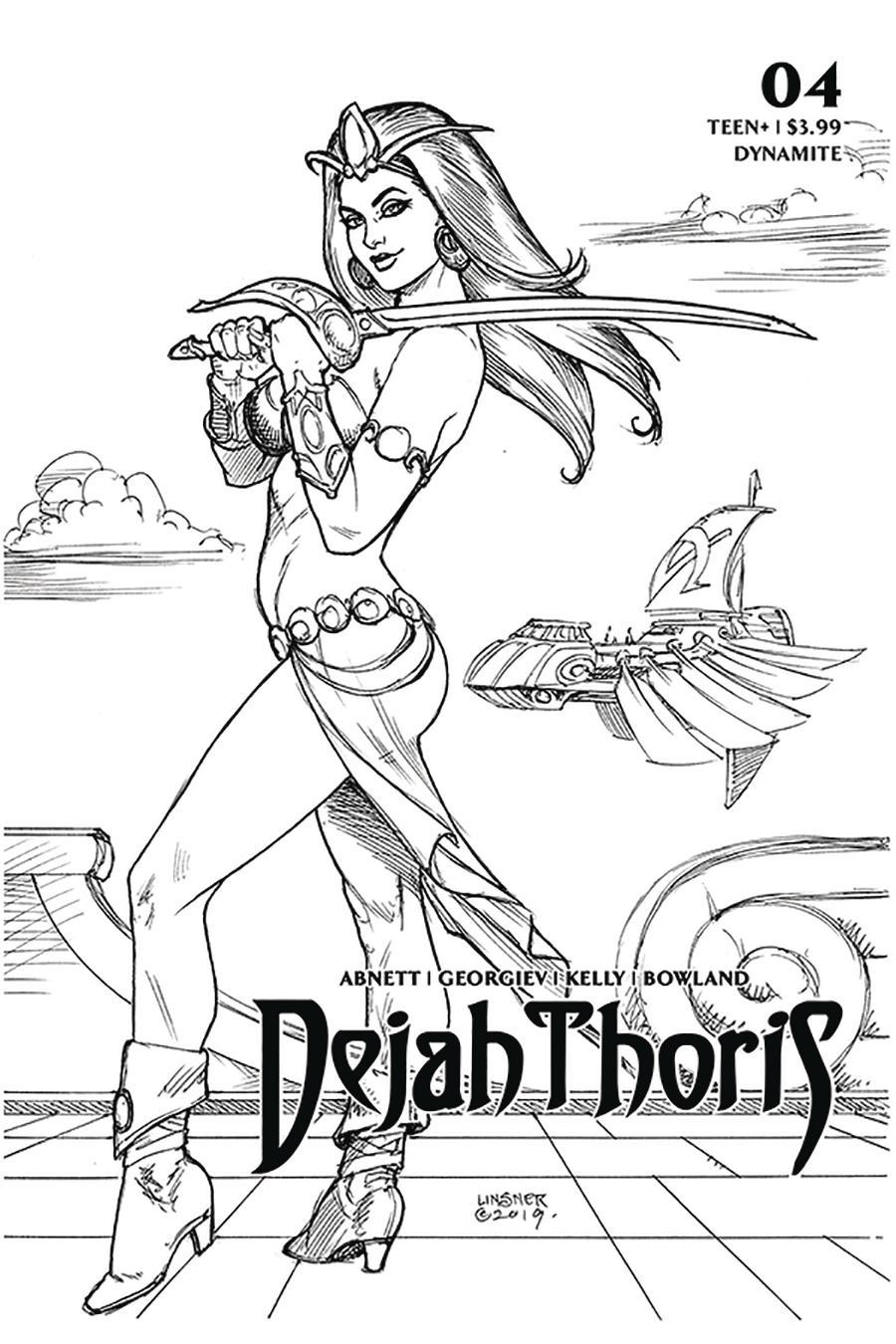Dejah Thoris Vol 3 #4 Cover M Incentive Joseph Michael Linsner Black & White Cover