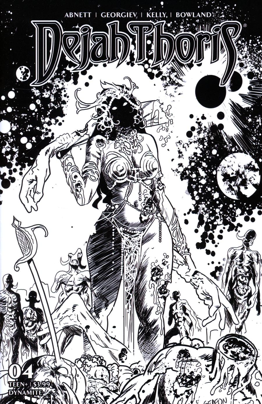 Dejah Thoris Vol 3 #4 Cover Q Incentive Juan Gedeon Zombie Black & White Cover