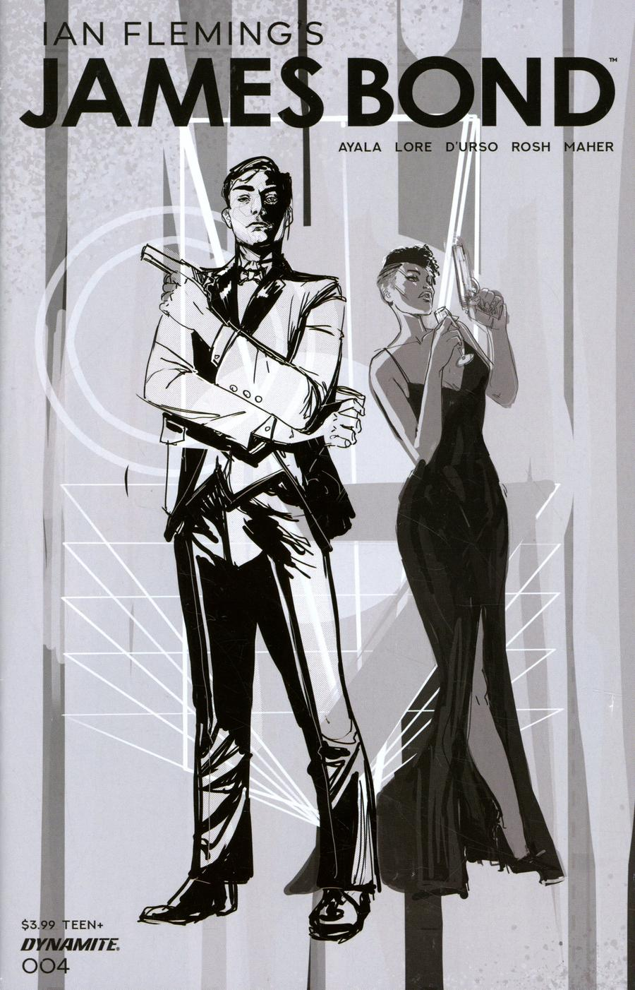 James Bond Vol 3 #4 Cover B Incentive Afua Richardson Grayscale Cover