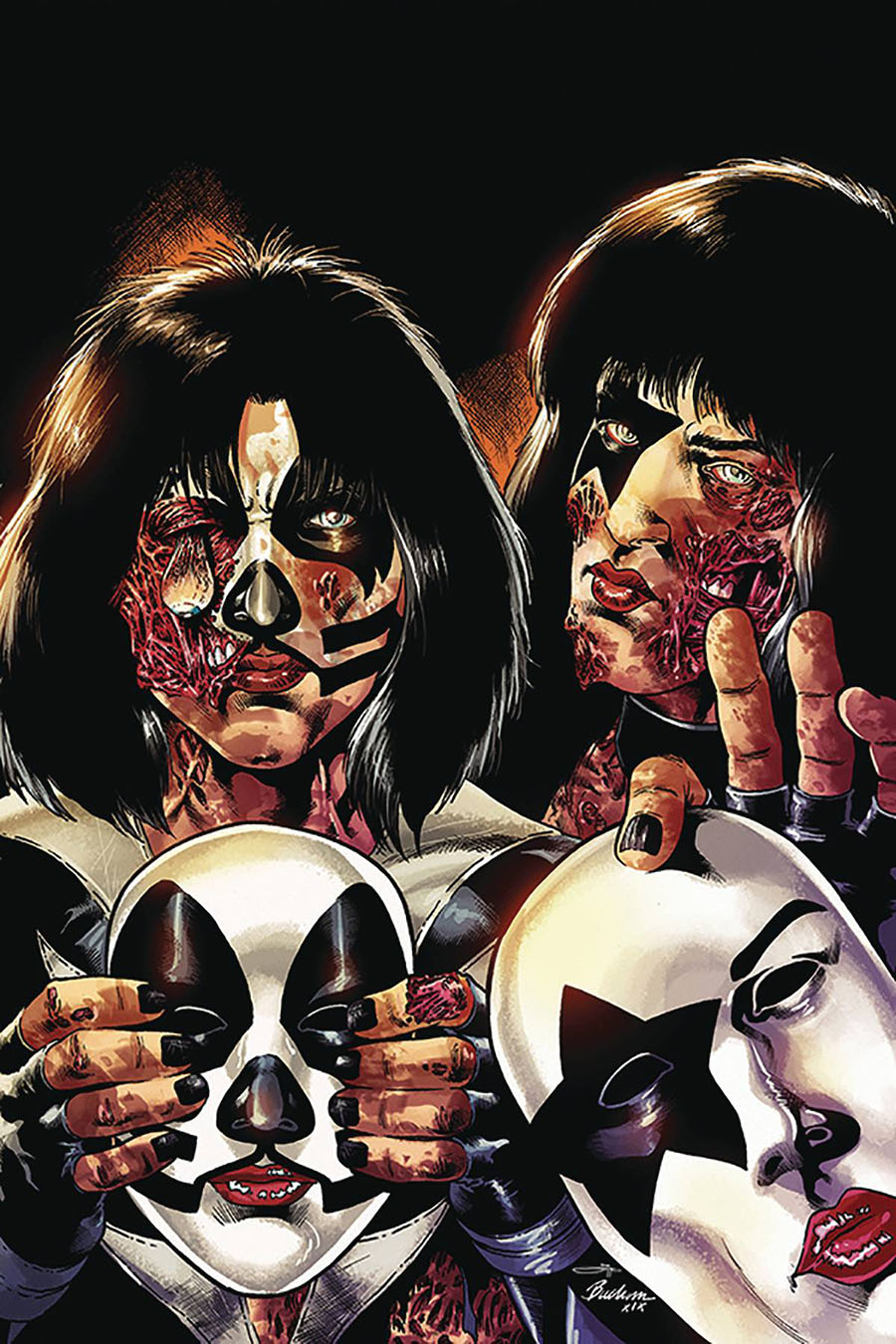 KISS Zombies #5 Cover J Incentive Rodney Buchemi Virgin Cover