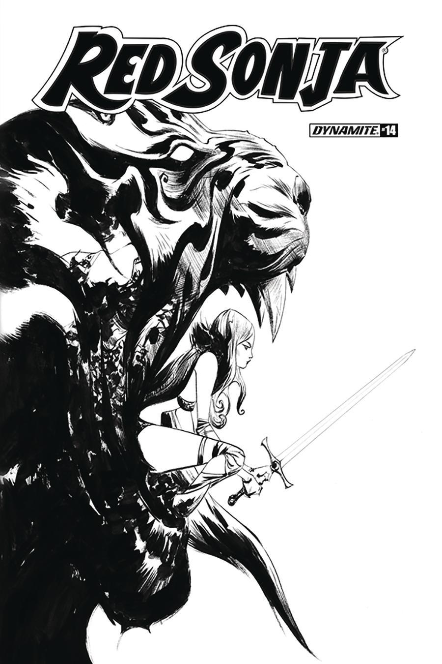 Red Sonja Vol 8 #14 Cover L Incentive Jae Lee Black & White Cover