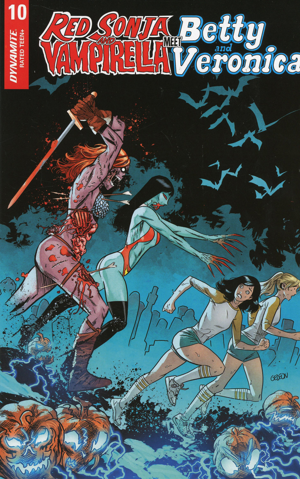Red Sonja And Vampirella Meet Betty And Veronica #10 Cover F Incentive Juan Gedeon Zombie Variant Cover