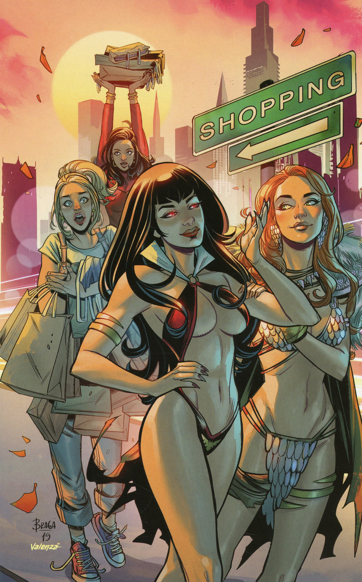Red Sonja And Vampirella Meet Betty And Veronica #10 Cover N Incentive Laura Braga Virgin Cover