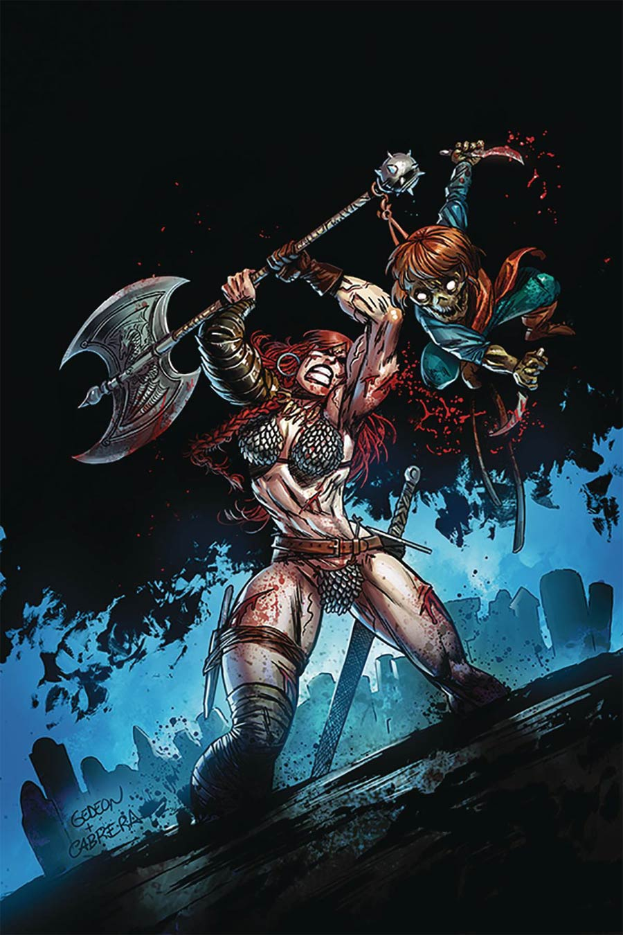 Killing Red Sonja #1 Cover M Limited Edition Juan Gedeon Zombie Virgin Cover