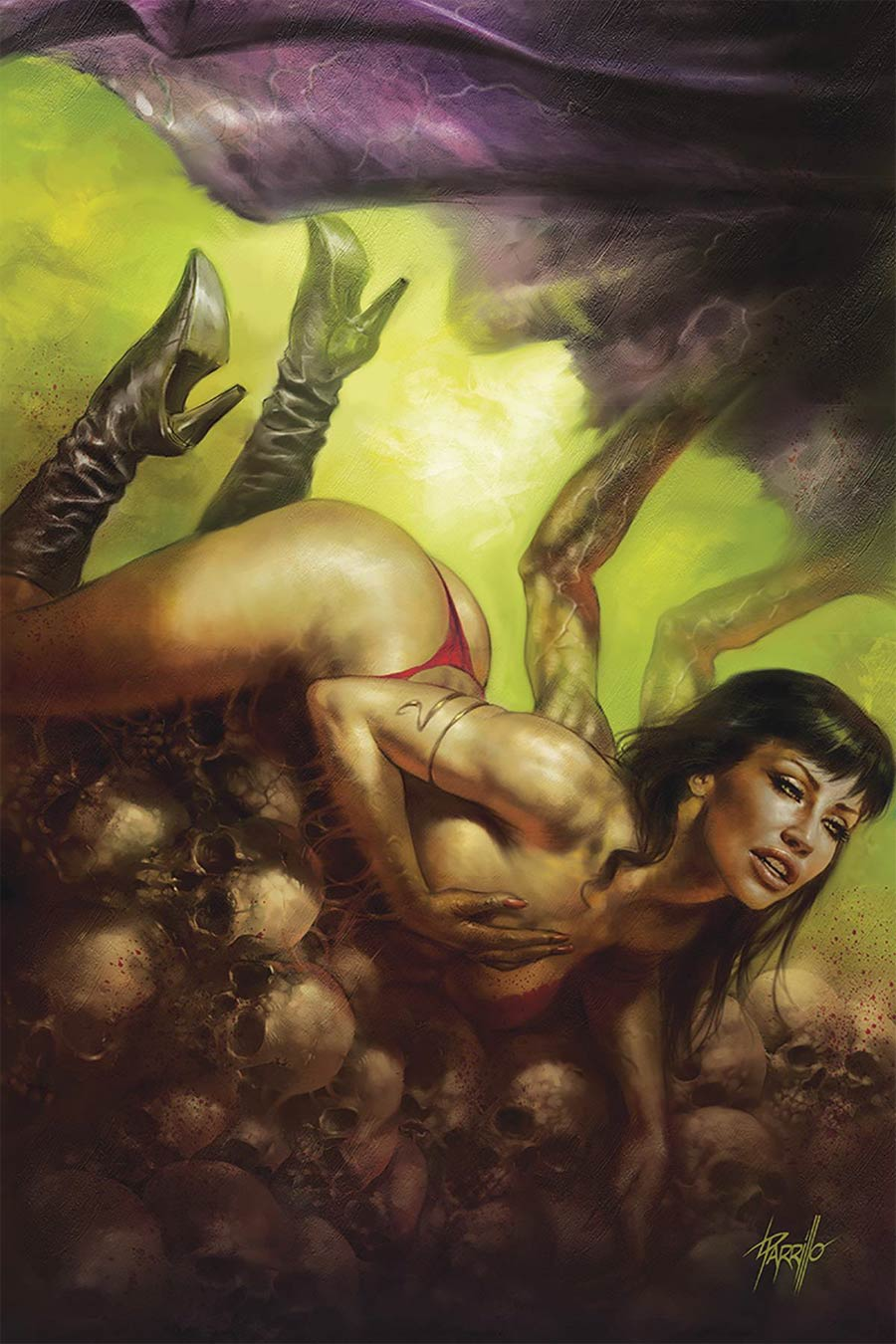Vampirella Vol 8 #9 Cover W Limited Edition Lucio Parrillo Virgin Cover