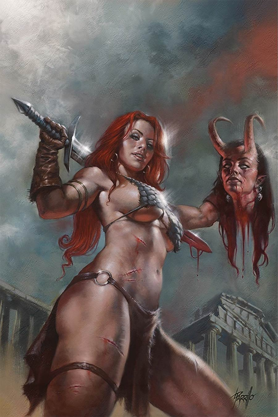 Red Sonja Age Of Chaos #3 Cover X Limited Edition Lucio Parrillo Virgin Cover