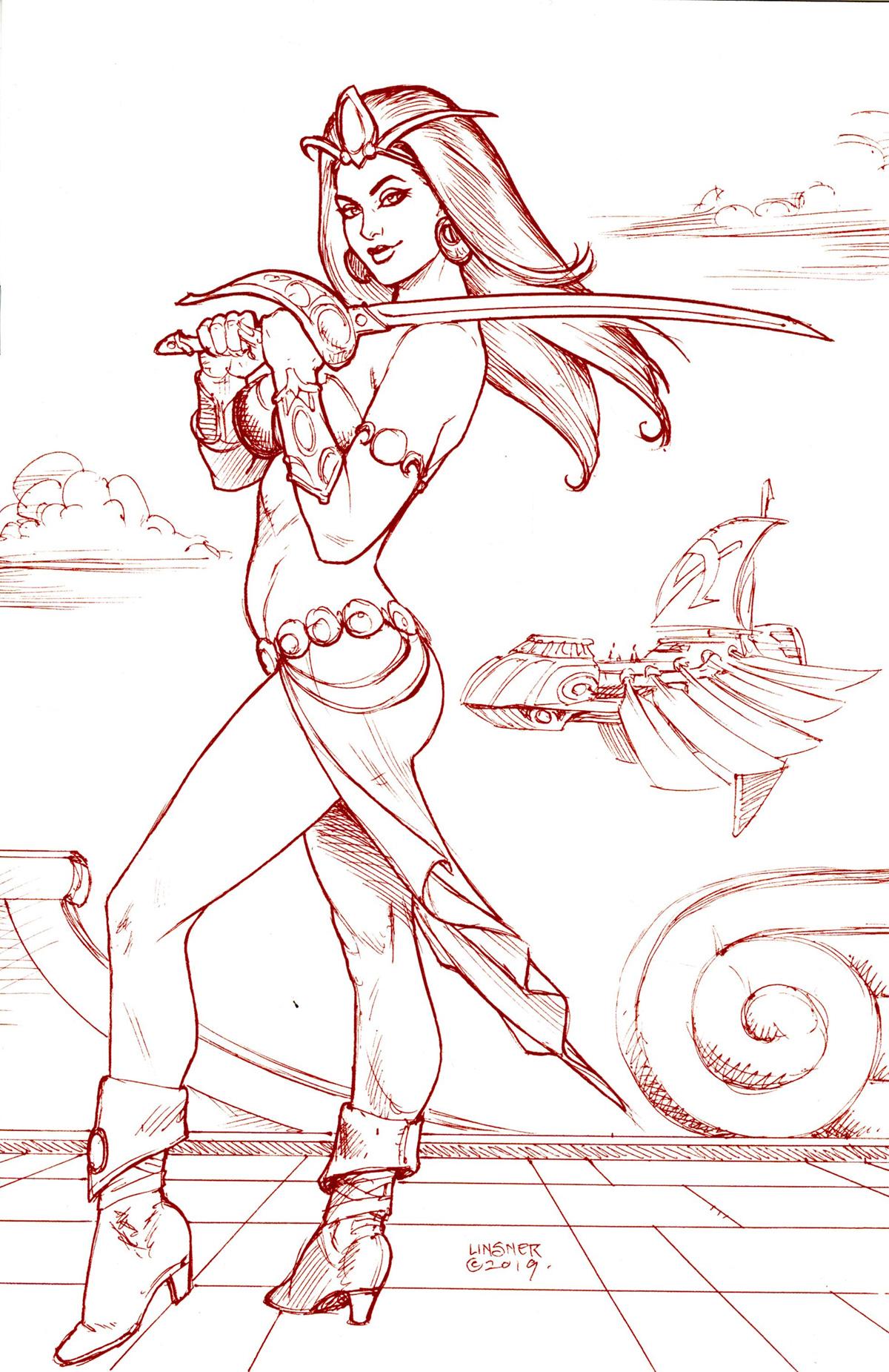 Dejah Thoris Vol 3 #4 Cover V Rare Limited Edition Joseph Michael Linsner Martian Red Cover