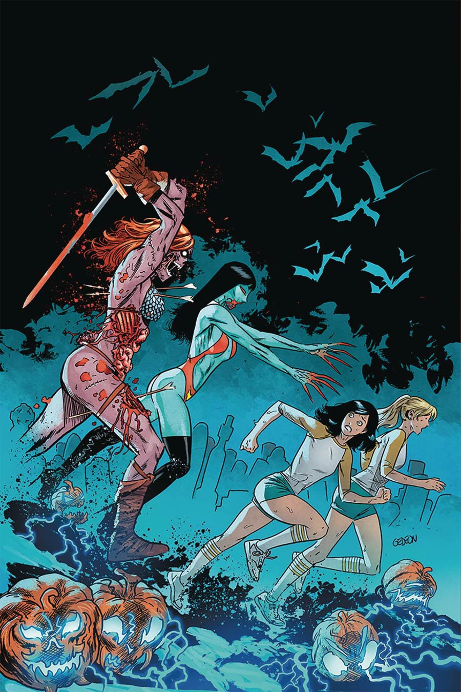 Red Sonja And Vampirella Meet Betty And Veronica #10 Cover R Limited Edition Juan Gedeon Zombie Virgin Cover