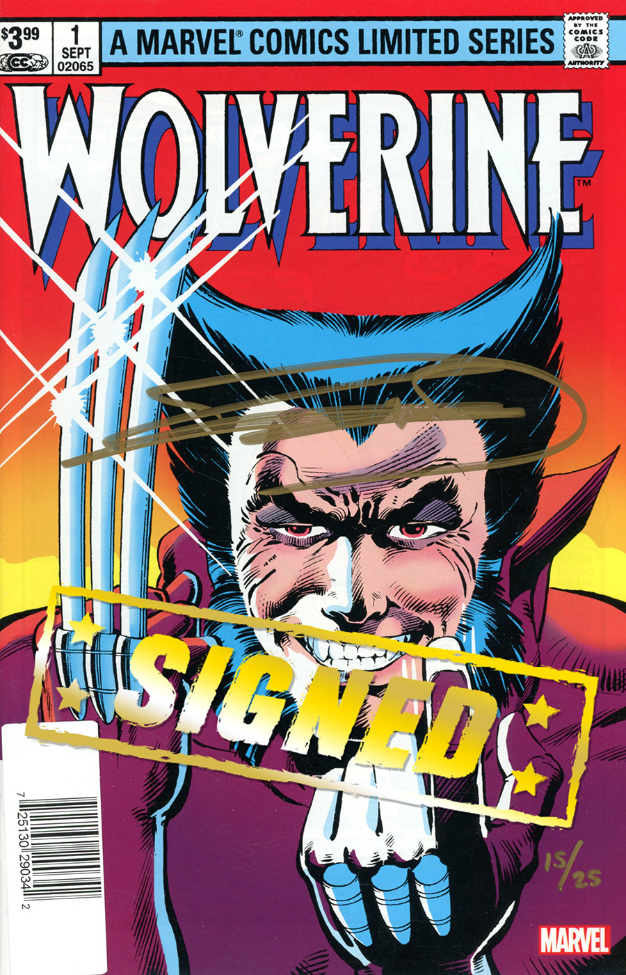 Wolverine By Claremont & Miller #1 Facsimile Edition Cover B DF Signed By Frank Miller