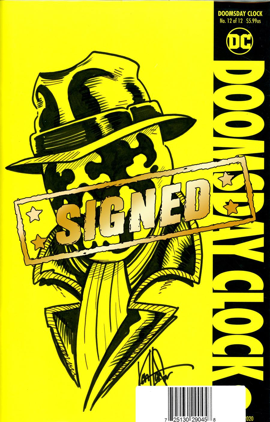 Doomsday Clock #12 Cover D DF Signed & Remarked By Ken Haeser