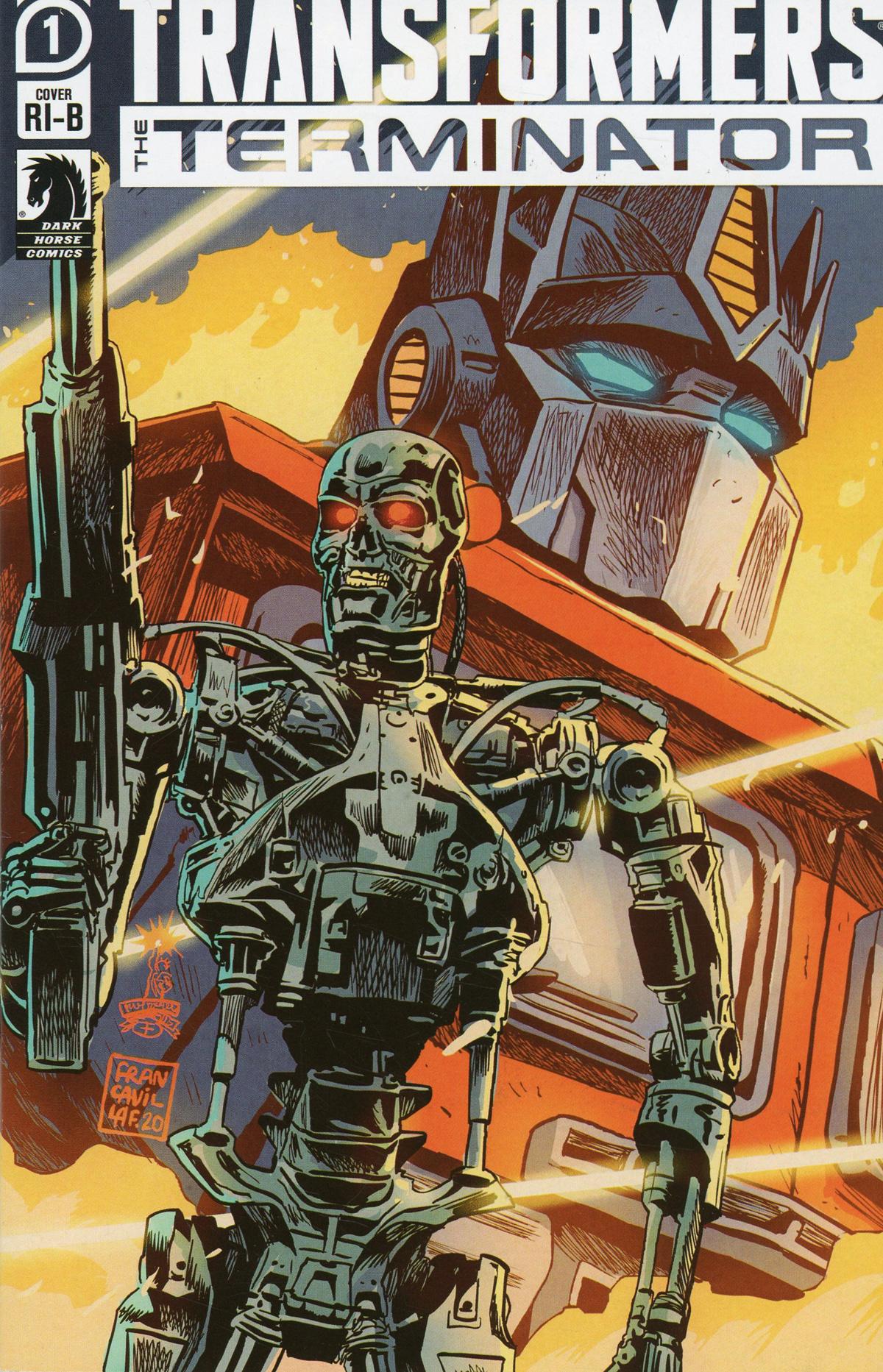 Transformers vs Terminator #1 Cover D Incentive Francesco Francavilla Variant Cover