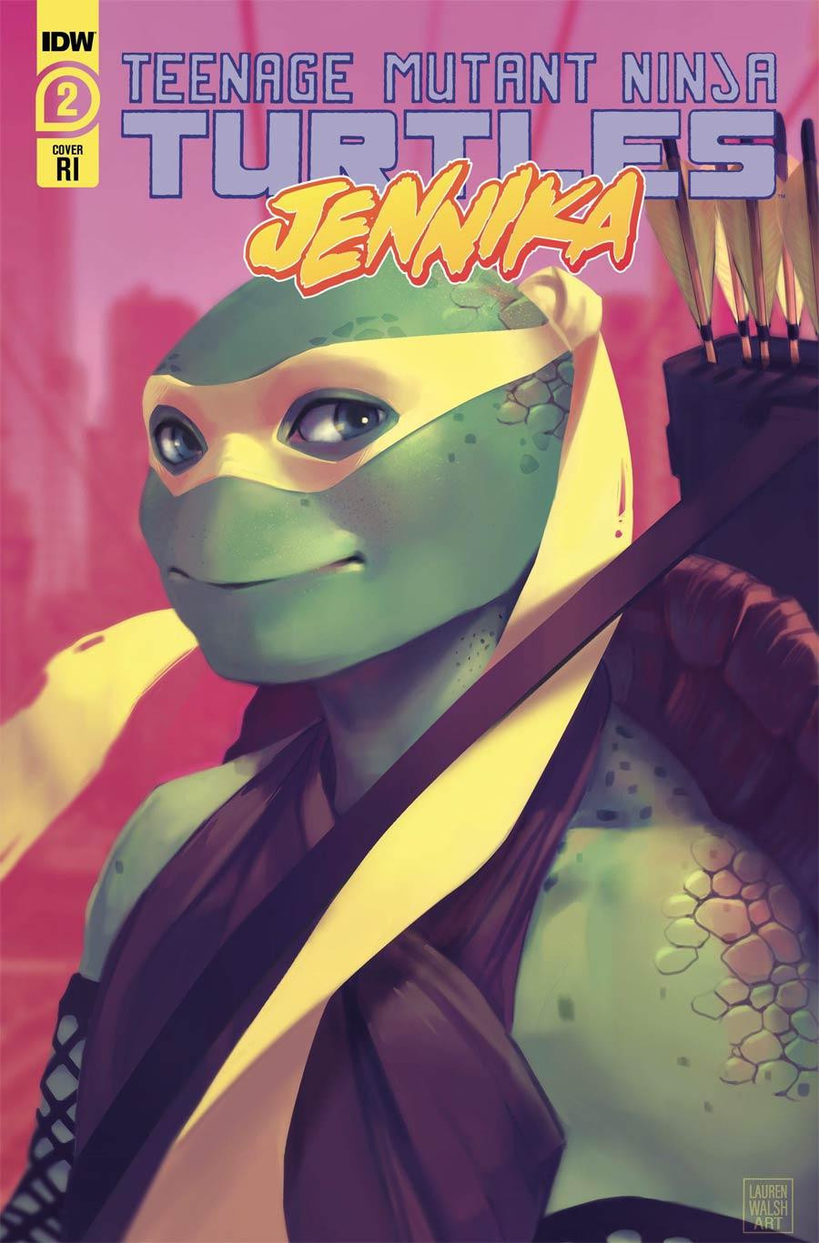Teenage Mutant Ninja Turtles Jennika #2 Cover B Incentive Lauren Walsh Variant Cover