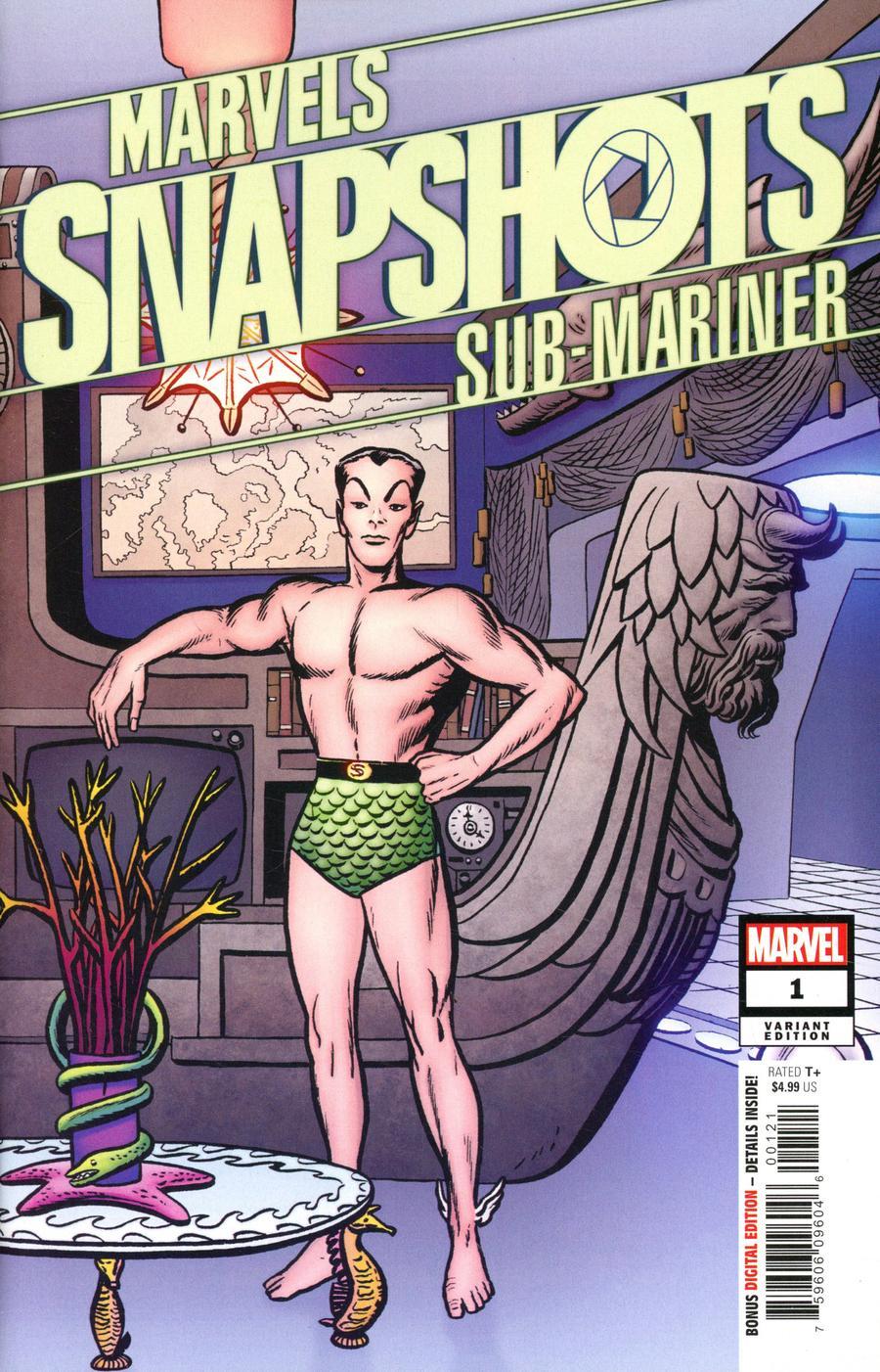 Sub-Mariner Marvels Snapshots #1 Cover D Incentive Jack Kirby Hidden Gem Variant Cover