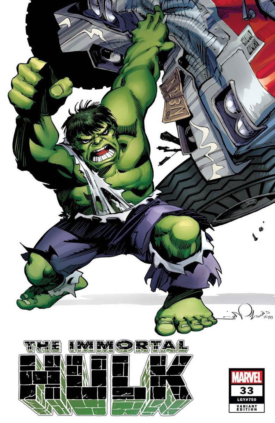 Immortal Hulk #33 Cover G Incentive Walter Simonson Hidden Gem Variant Cover (#750)