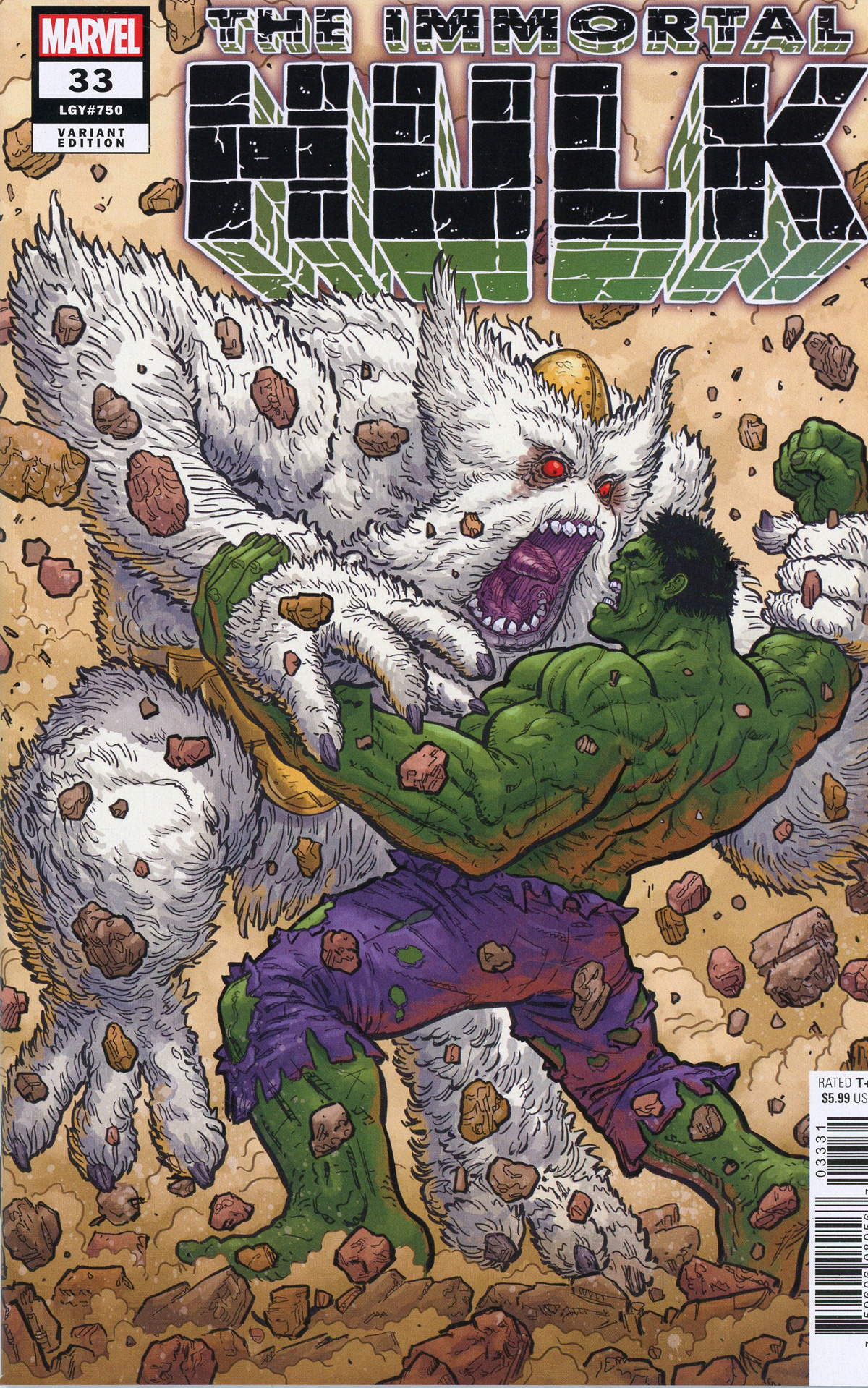 Immortal Hulk #33 Cover F Incentive Steve Skroce Variant Cover (#750)