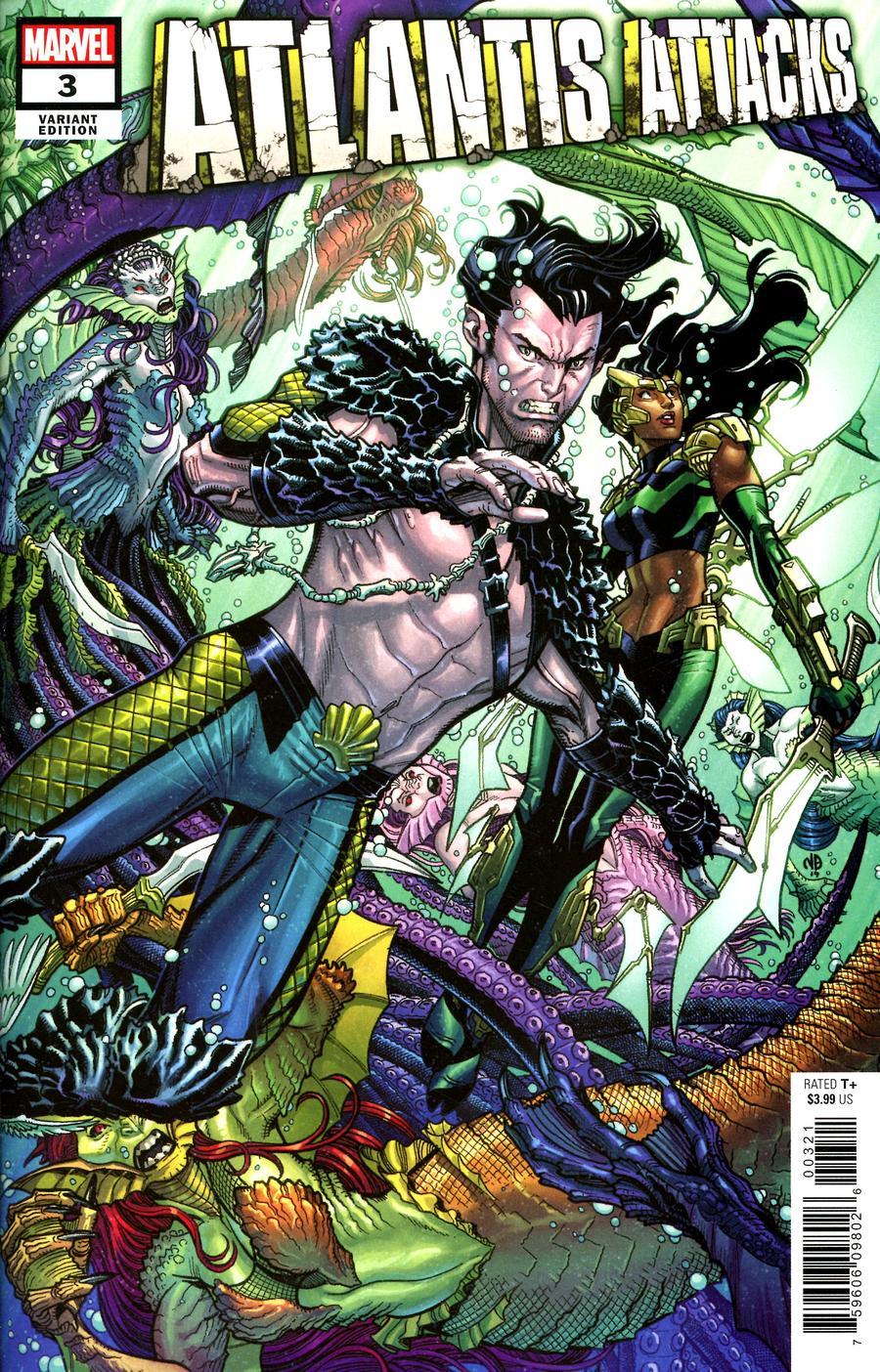 Atlantis Attacks #3 Cover B Incentive Nick Bradshaw Variant Cover